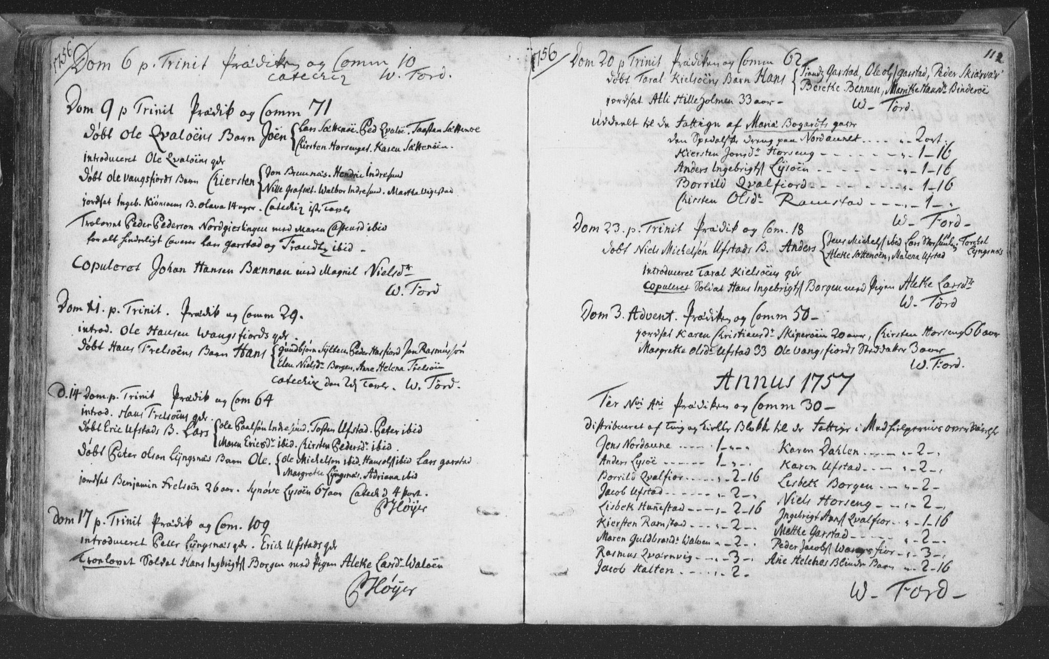 SAT, Ministerialprotokoller, klokkerbøker og fødselsregistre - Nord-Trøndelag, 786/L0685: Ministerialbok nr. 786A01, 1710-1798, s. 112