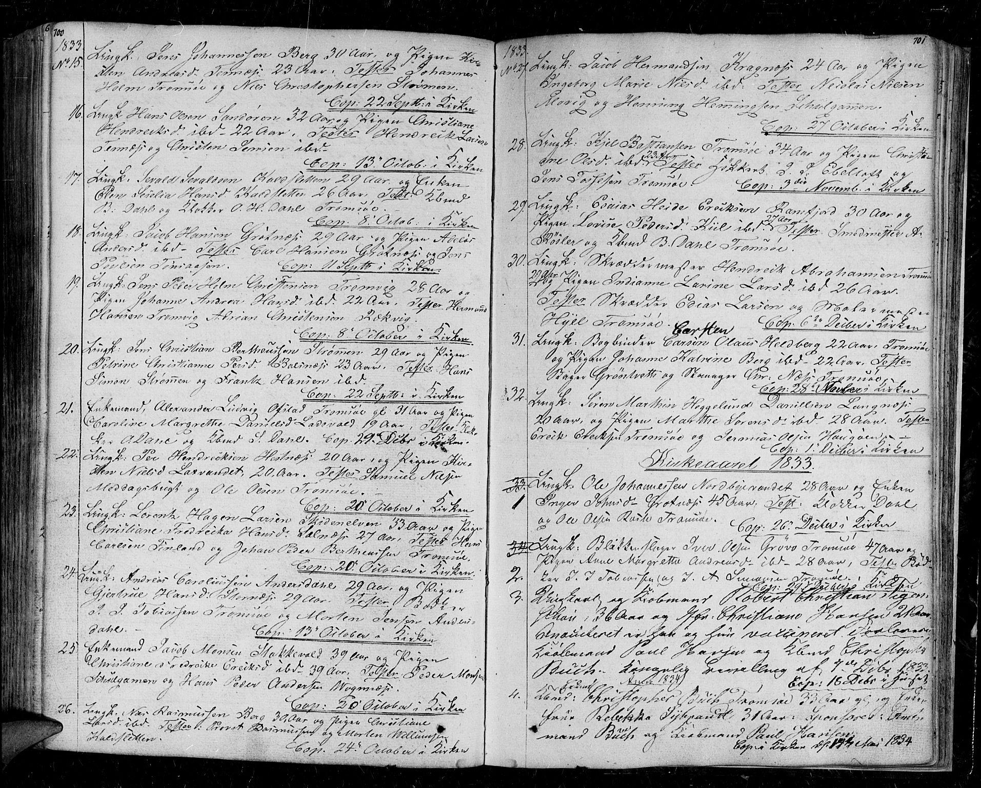 SATØ, Tromsø sokneprestkontor/stiftsprosti/domprosti, G/Ga/L0008kirke: Ministerialbok nr. 8, 1829-1837, s. 700-701