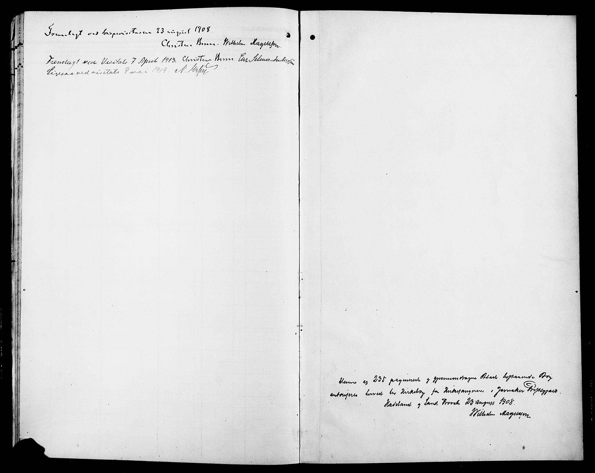 SAH, Jevnaker prestekontor, Klokkerbok nr. 4, 1907-1918