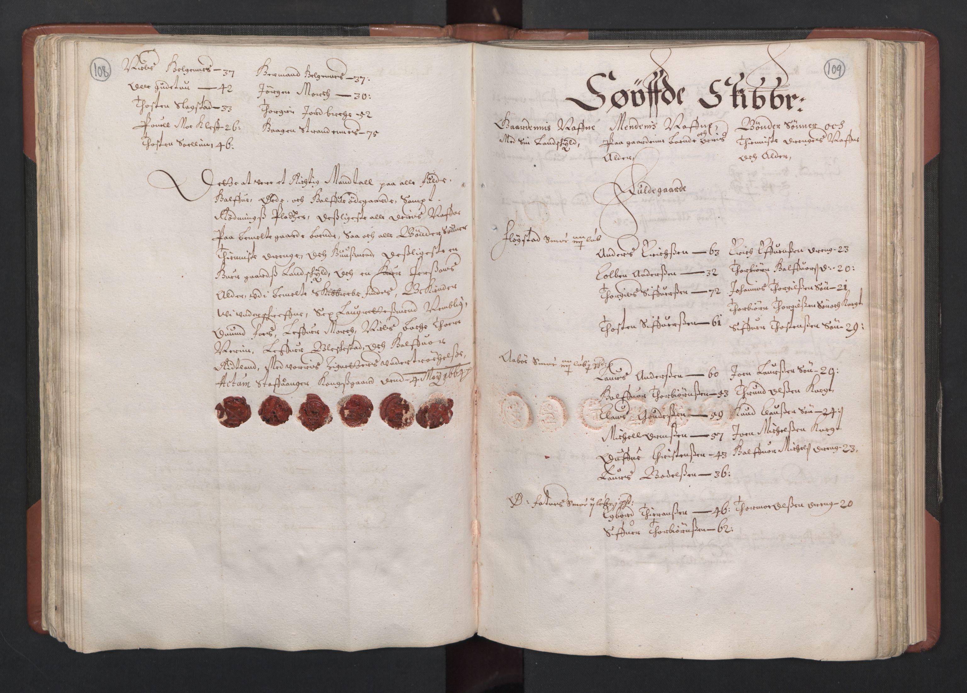 RA, Fogdenes og sorenskrivernes manntall 1664-1666, nr. 12: Ryfylke fogderi, 1664, s. 108-109