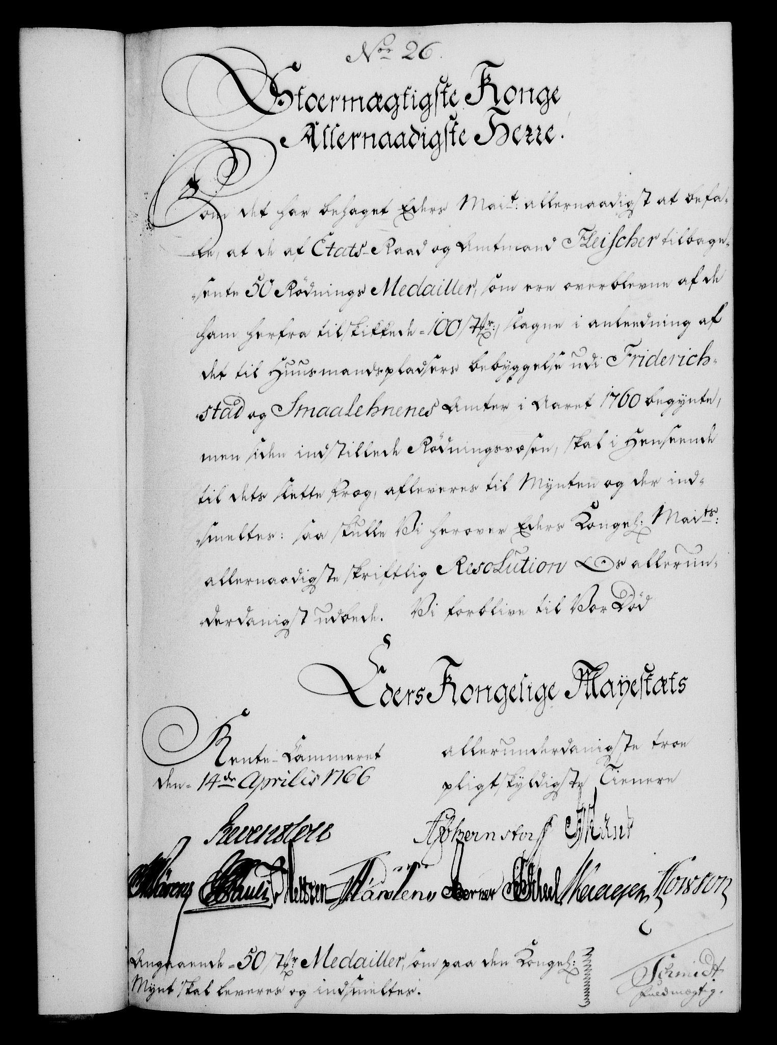 RA, Rentekammeret, Kammerkanselliet, G/Gf/Gfa/L0048: Norsk relasjons- og resolusjonsprotokoll (merket RK 52.48), 1766, s. 149