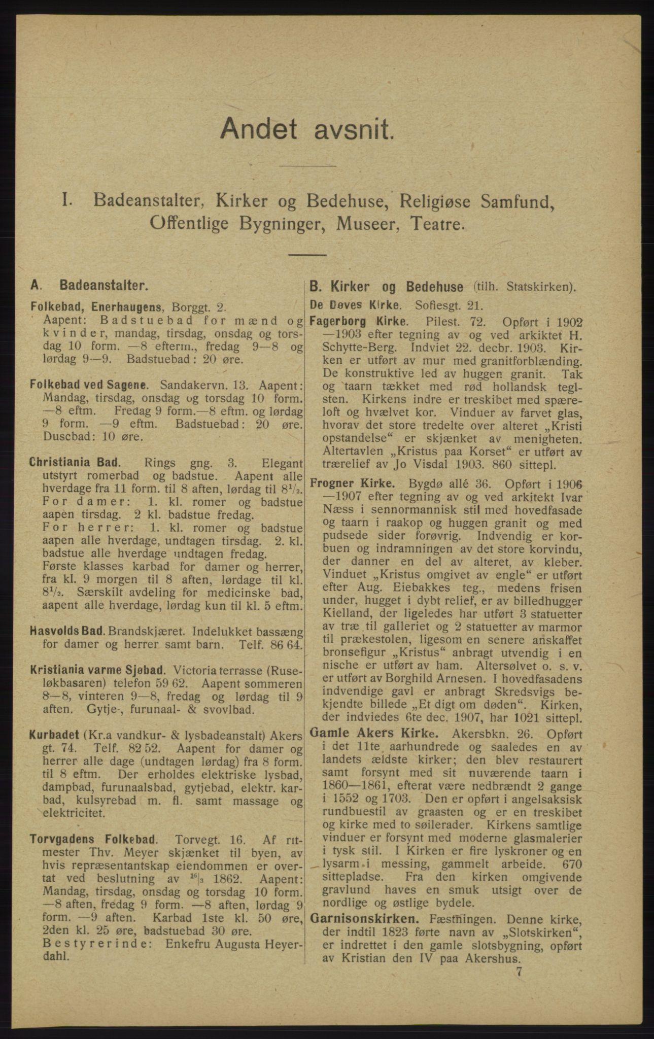 RA, Kristiania adressebok (publikasjon)*, 1913, s. 117