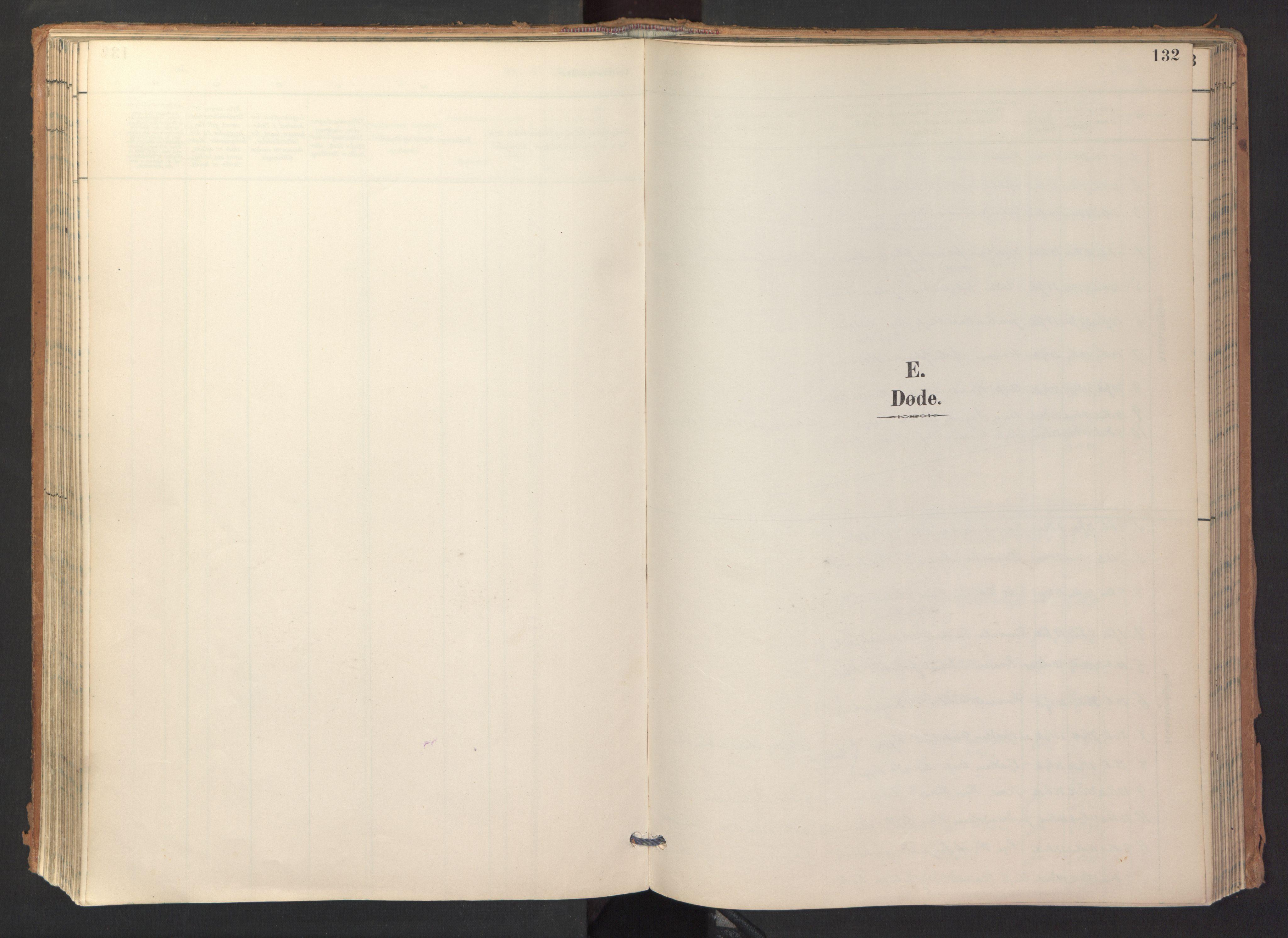 SAT, Ministerialprotokoller, klokkerbøker og fødselsregistre - Sør-Trøndelag, 688/L1025: Ministerialbok nr. 688A02, 1891-1909, s. 132
