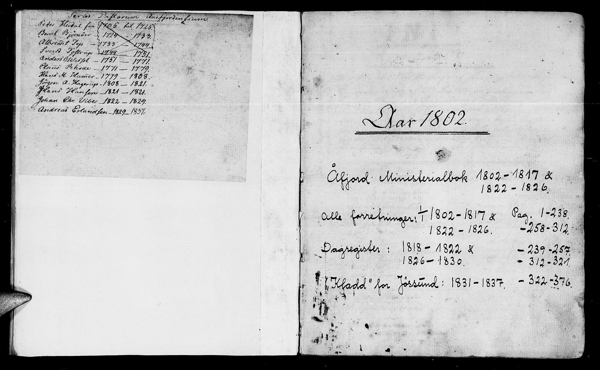 SAT, Ministerialprotokoller, klokkerbøker og fødselsregistre - Sør-Trøndelag, 655/L0674: Ministerialbok nr. 655A03, 1802-1826