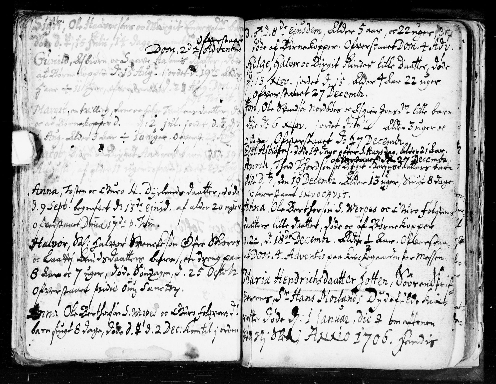 SAKO, Seljord kirkebøker, F/Fa/L0002: Ministerialbok nr. I 2, 1689-1713, s. 316-317