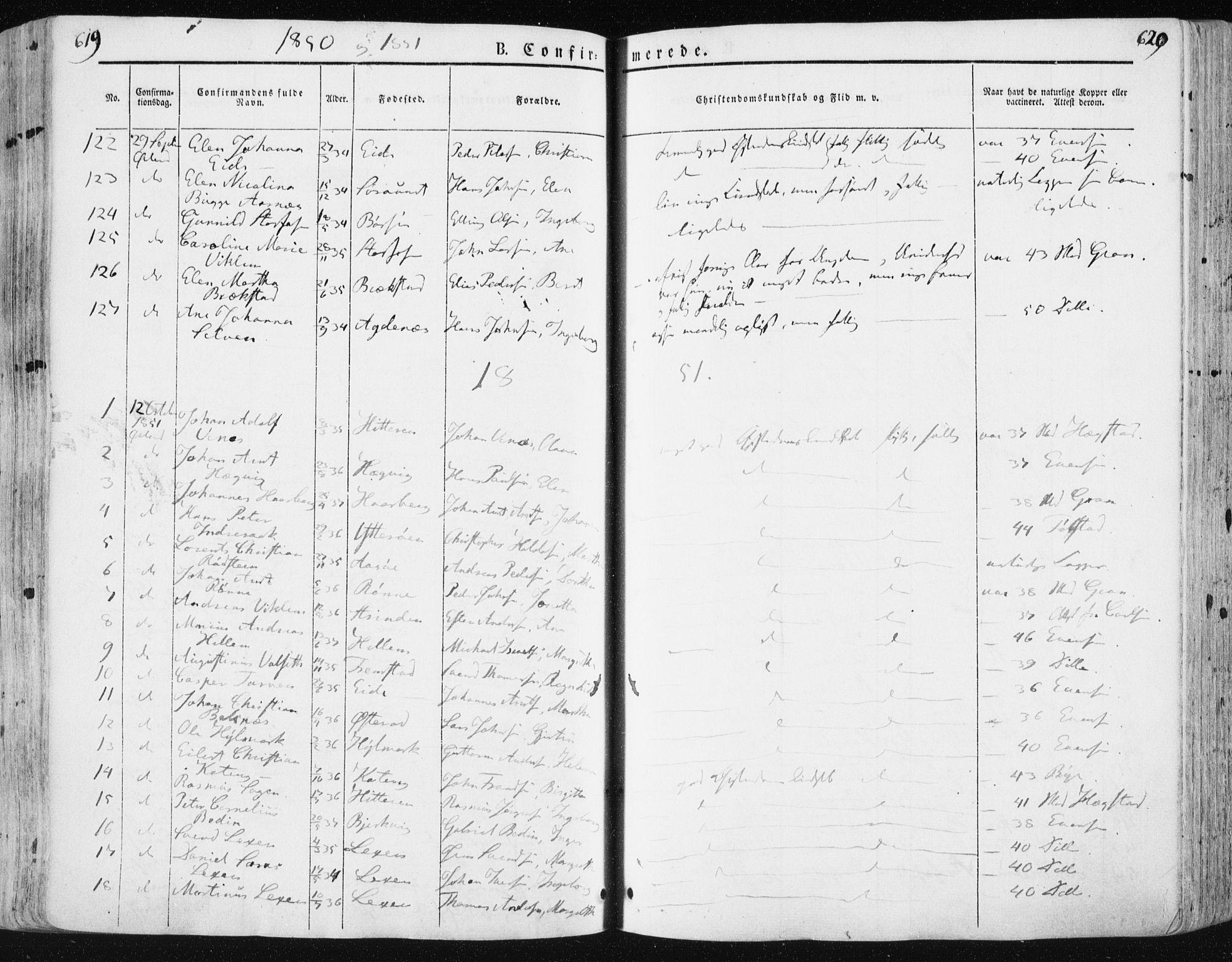 SAT, Ministerialprotokoller, klokkerbøker og fødselsregistre - Sør-Trøndelag, 659/L0736: Ministerialbok nr. 659A06, 1842-1856, s. 619-620