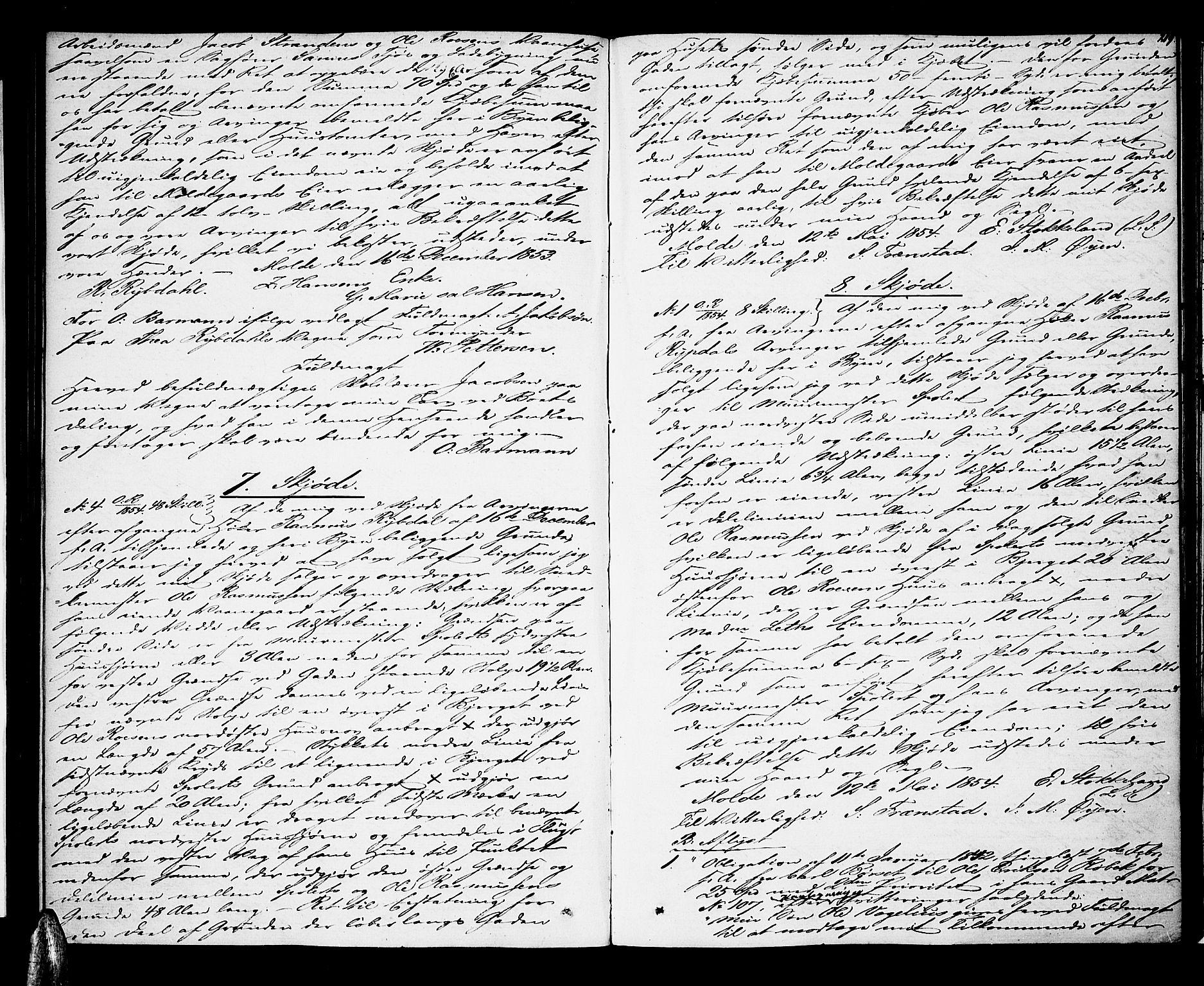 SAT, Molde byfogd, 2/2C/L0003: Pantebok nr. 3, 1844-1858, s. 219