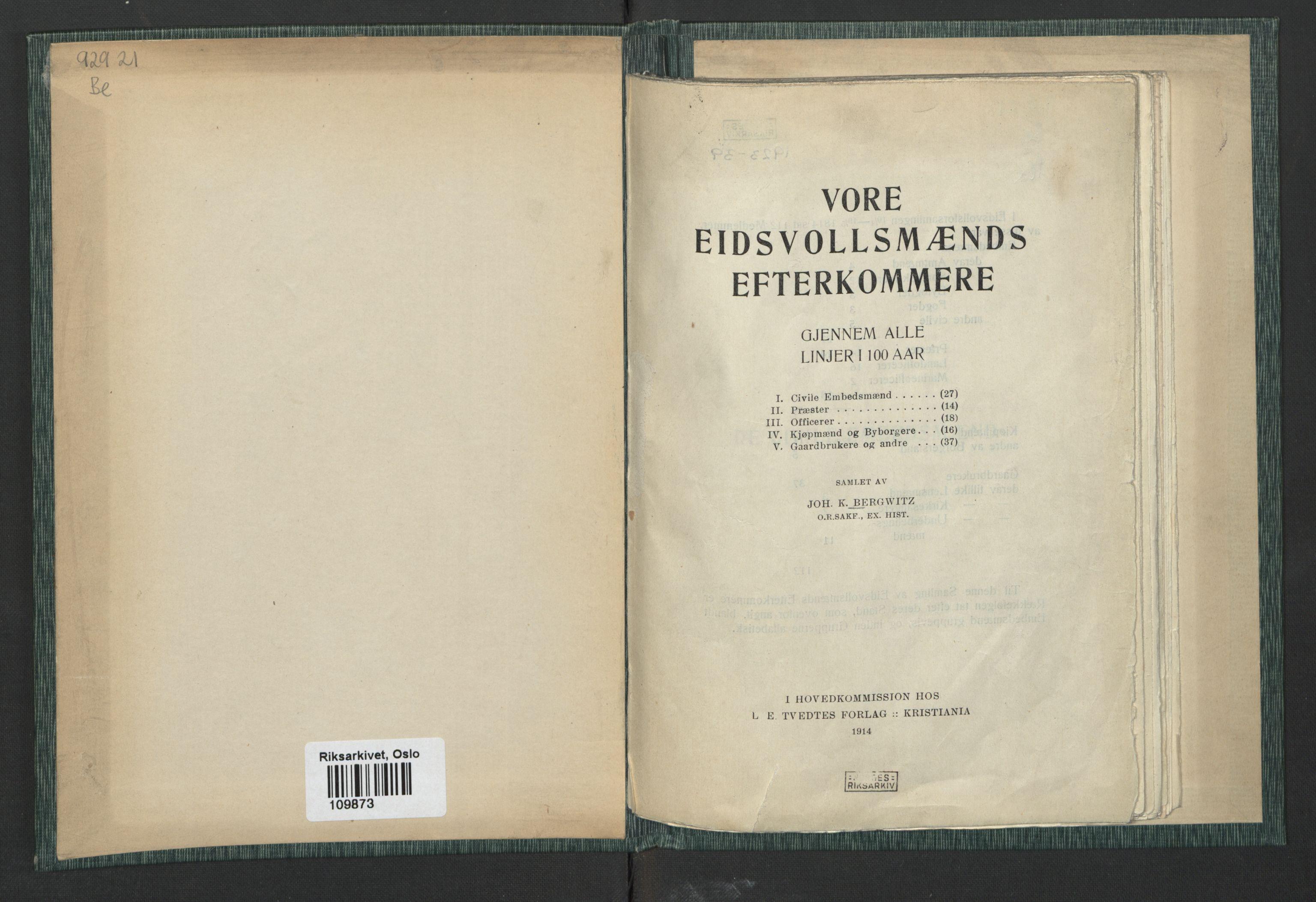 RA, Publikasjoner*, 1914, s. 2