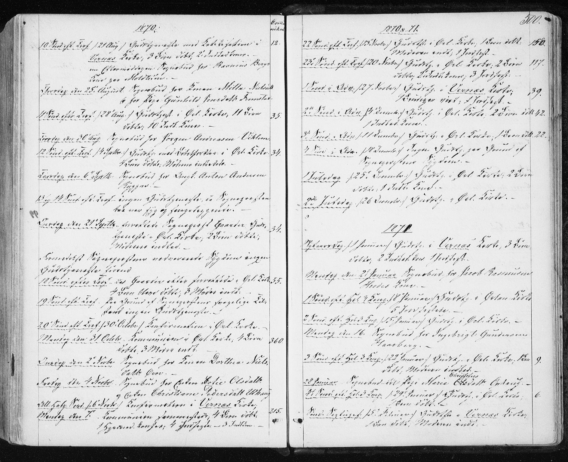 SAT, Ministerialprotokoller, klokkerbøker og fødselsregistre - Sør-Trøndelag, 659/L0737: Ministerialbok nr. 659A07, 1857-1875, s. 500