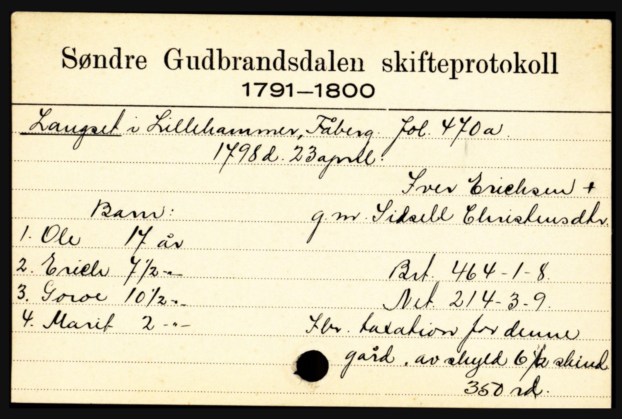 SAH, Sør-Gudbrandsdal tingrett, J, 1658-1885, s. 7009