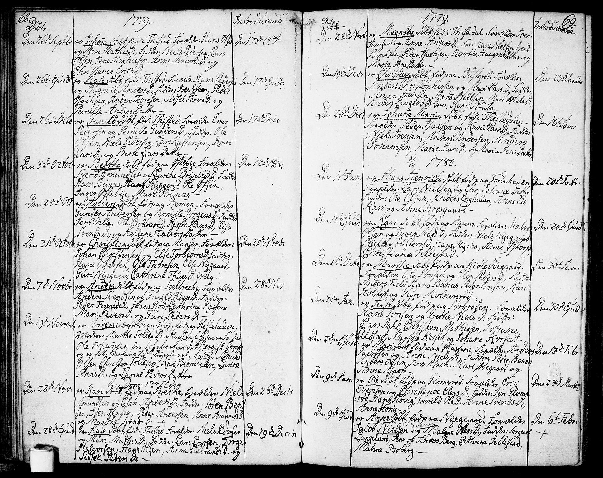 SAO, Berg prestekontor Kirkebøker, F/Fa/L0001: Ministerialbok nr. I 1, 1770-1814, s. 68-69