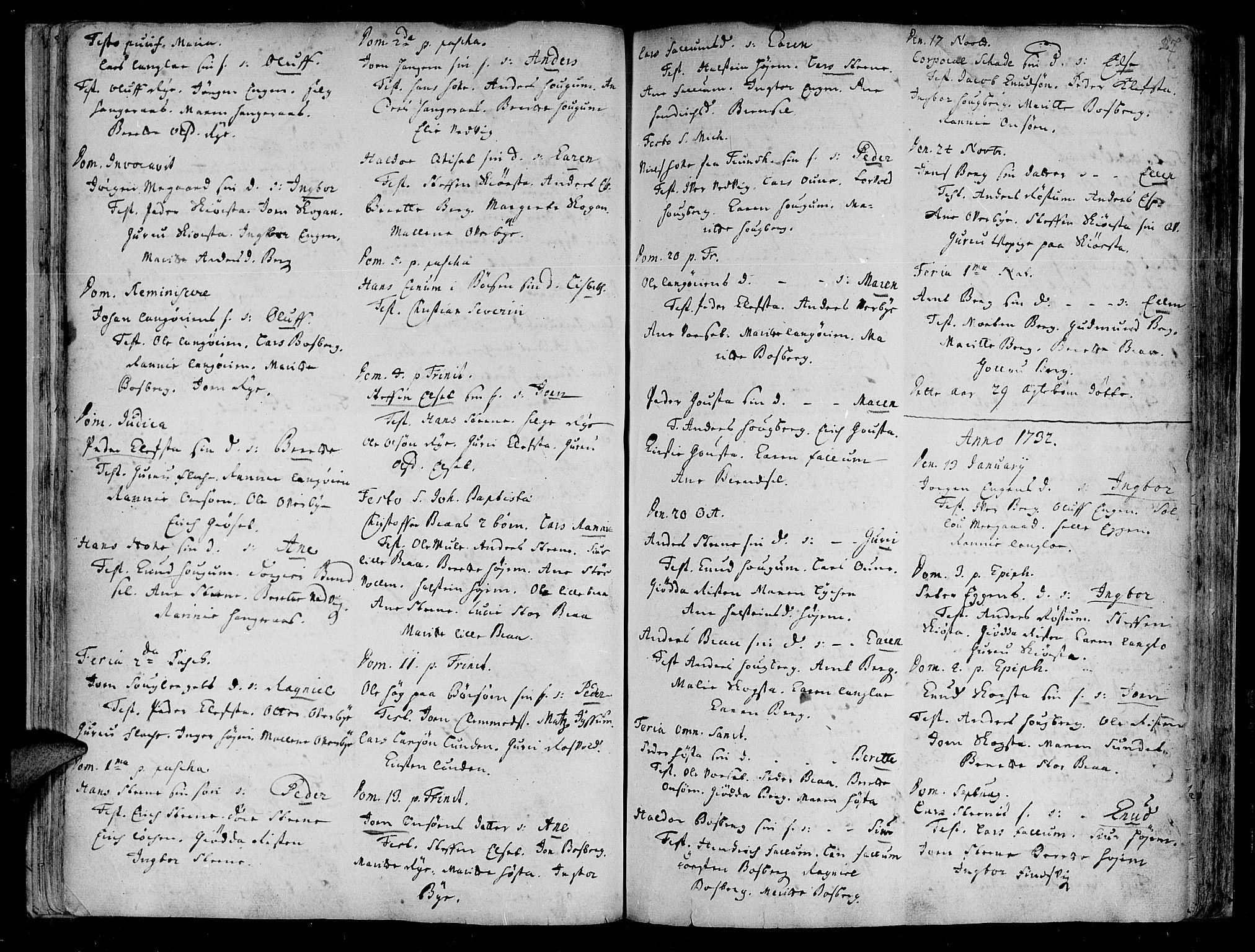 SAT, Ministerialprotokoller, klokkerbøker og fødselsregistre - Sør-Trøndelag, 612/L0368: Ministerialbok nr. 612A02, 1702-1753, s. 27