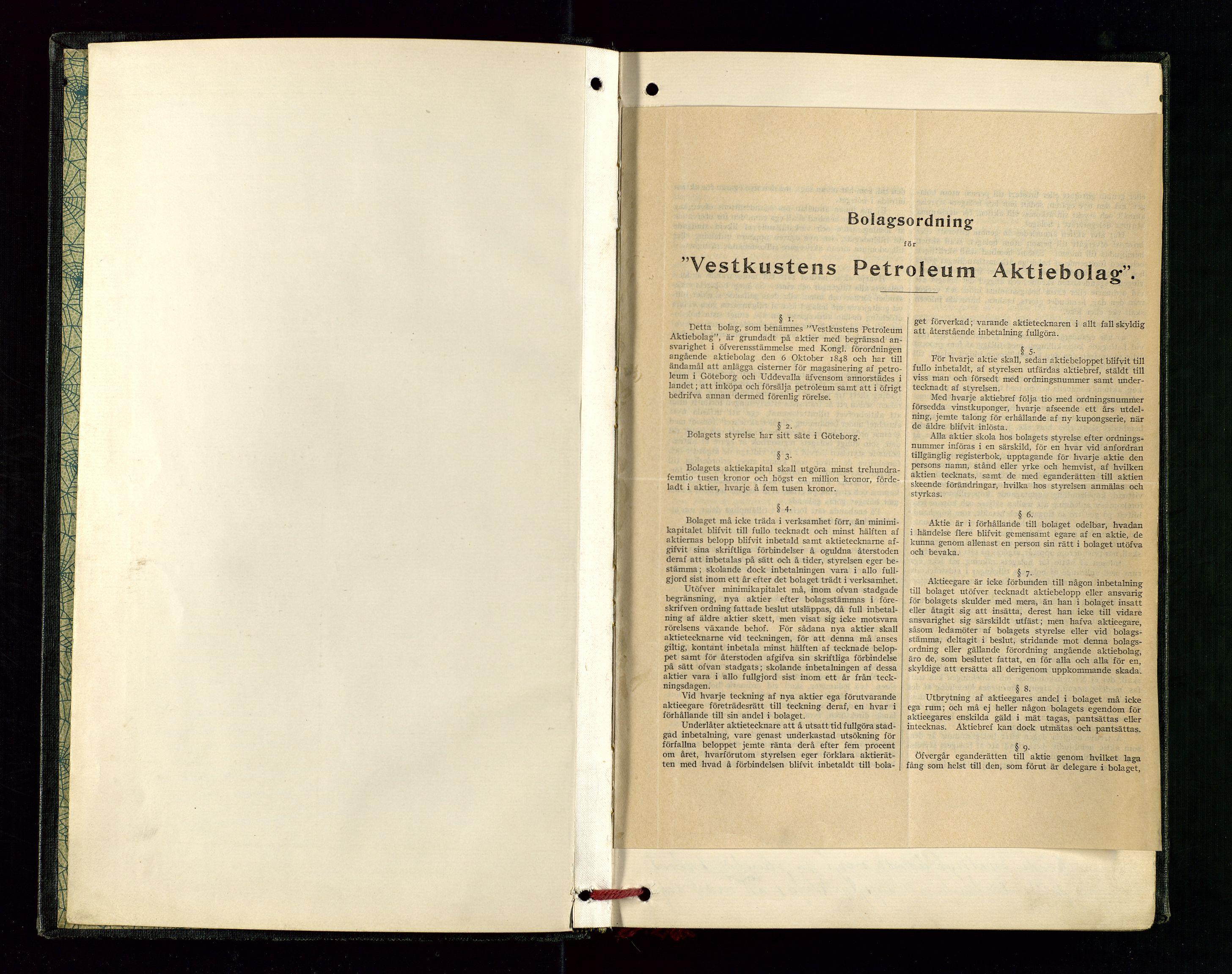 SAST, PA 1534 - Østlandske Petroleumscompagni A/S, A/Aa/L0003: Direksjonsprotokoller, 1905-1915, s. upaginert