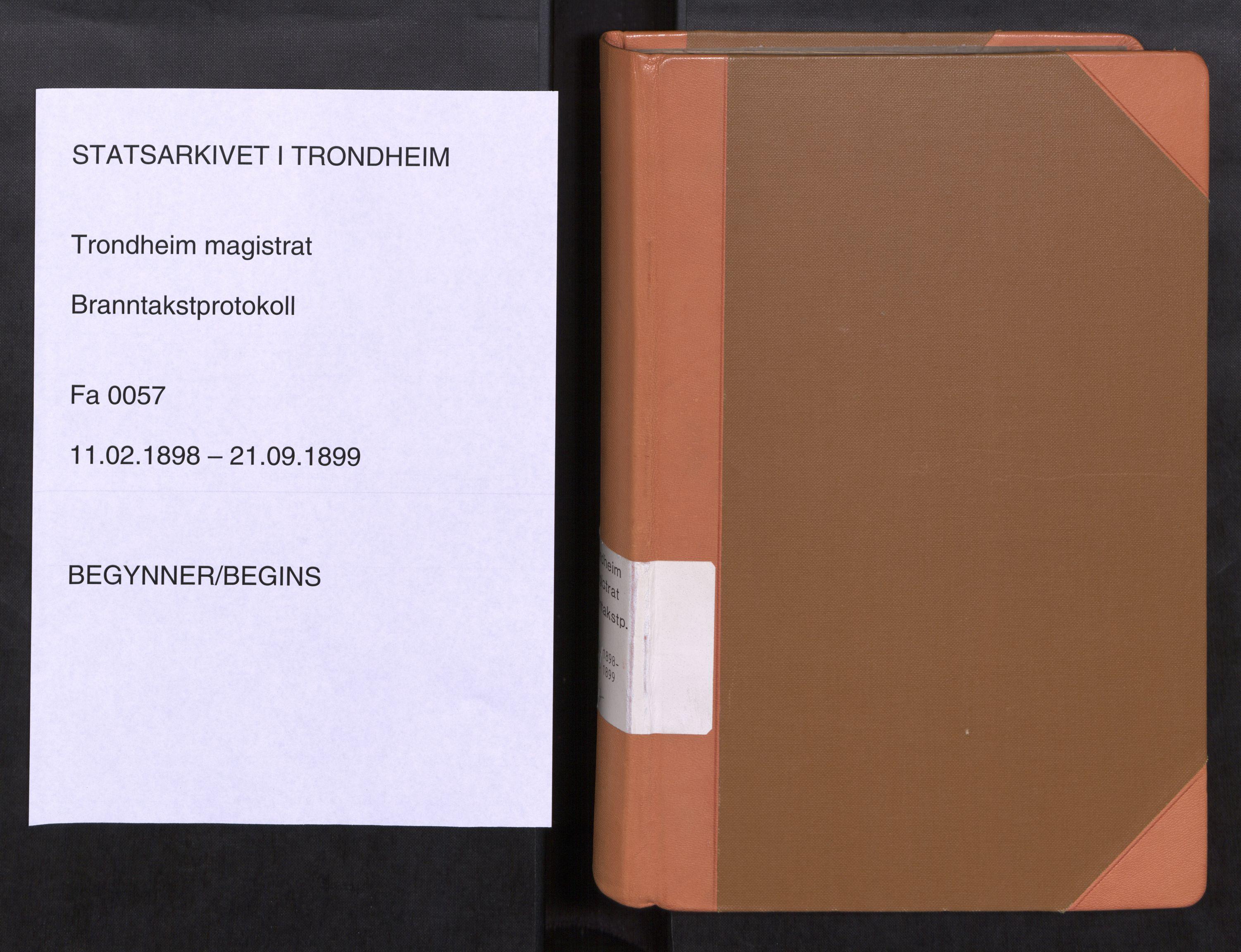 SAT, Norges Brannkasse Trondheim magistrat, Fa/L0061: Branntakstprotokoll Ø, 1898-1899