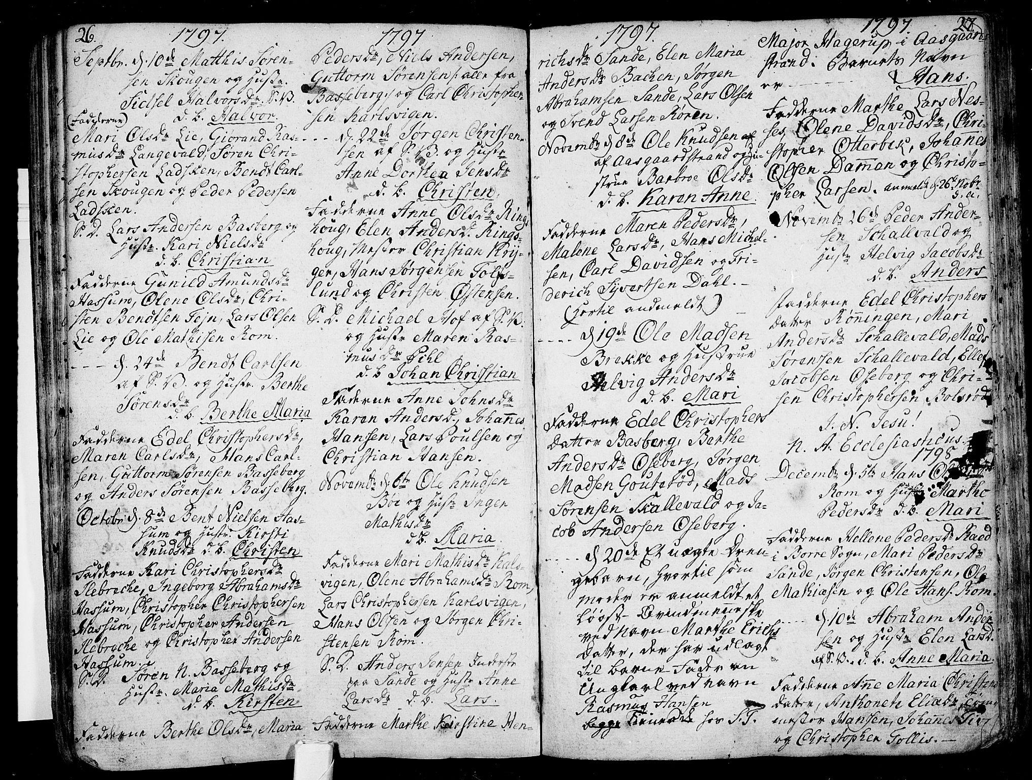 SAKO, Sem kirkebøker, F/Fb/L0003: Ministerialbok nr. II 3, 1792-1814, s. 26-27