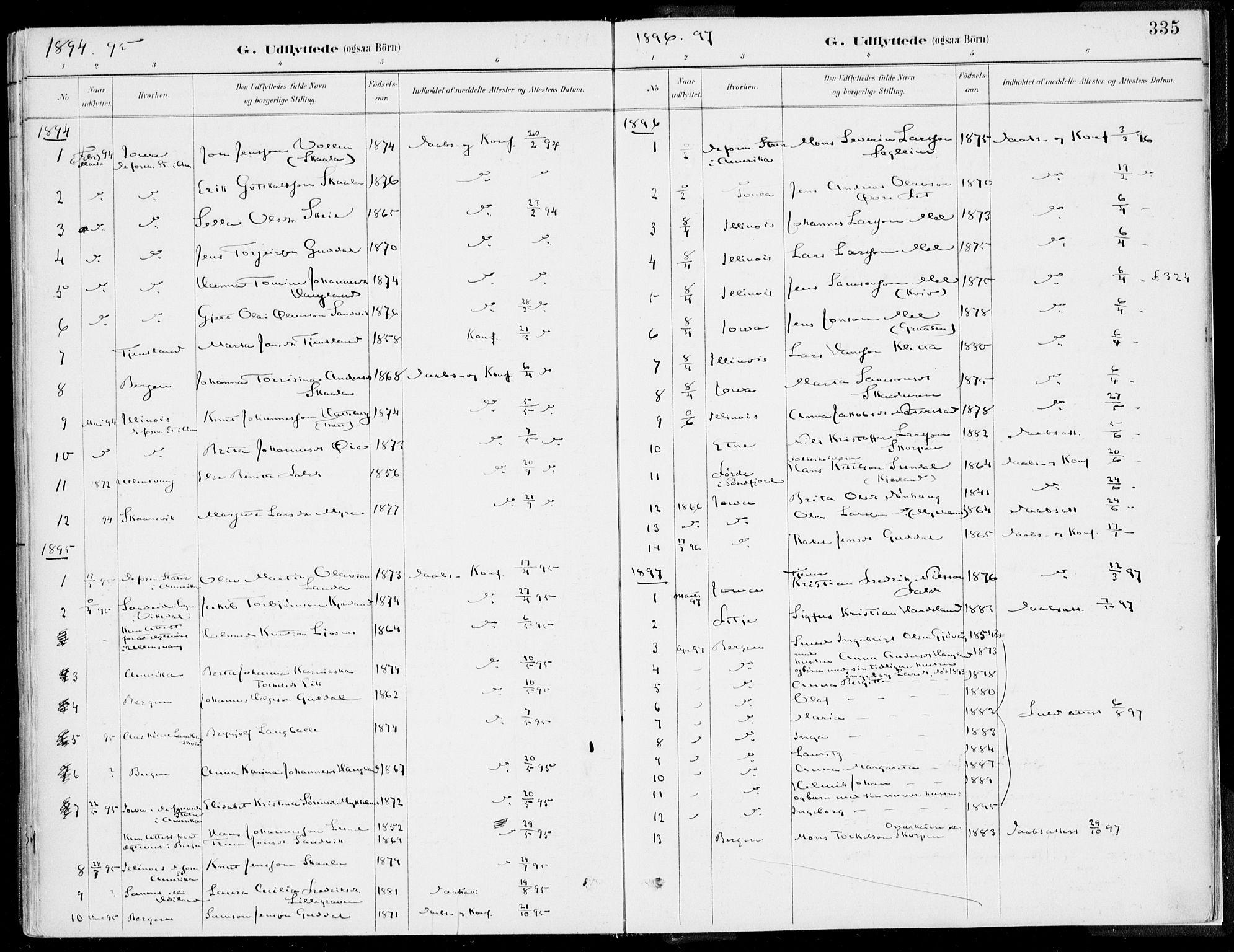 SAB, Kvinnherad Sokneprestembete, H/Haa: Ministerialbok nr. B  1, 1887-1921, s. 335
