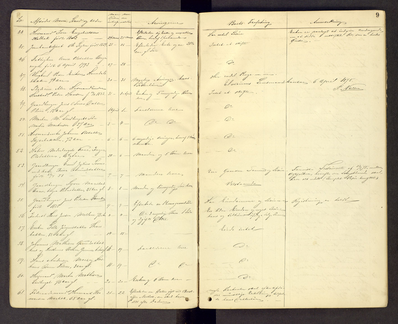 SAH, Sør-Østerdal sorenskriveri, J/Jg/L0003: Dødsfallsjournal, 1874-1889, s. 9