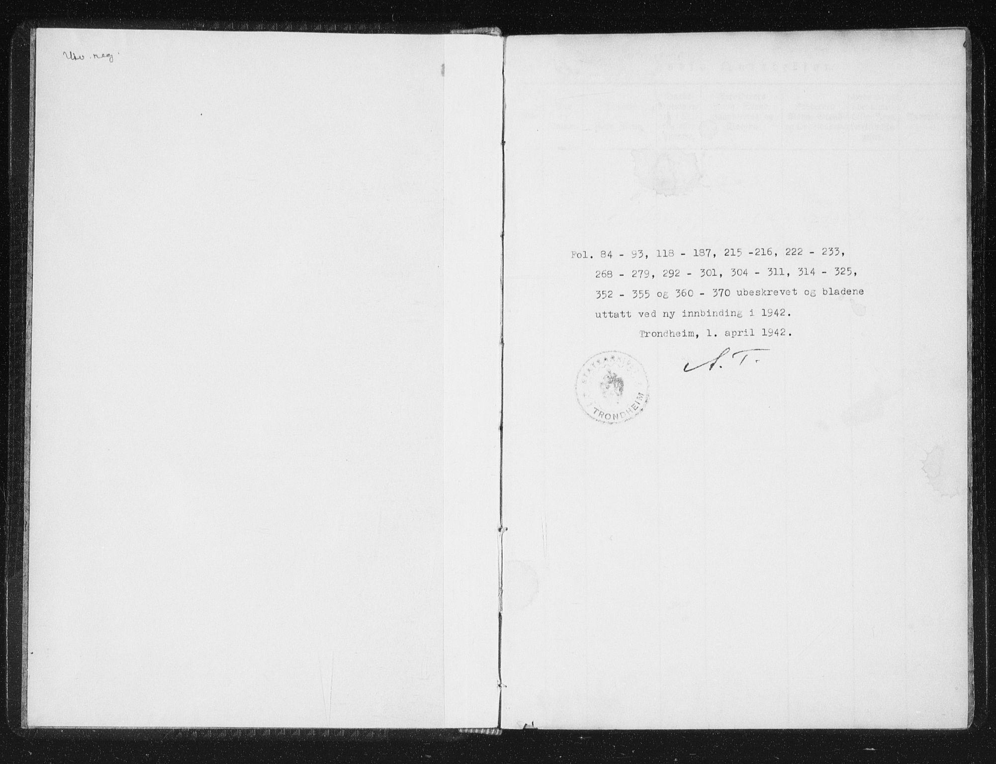 SAT, Ministerialprotokoller, klokkerbøker og fødselsregistre - Sør-Trøndelag, 689/L1037: Ministerialbok nr. 689A02, 1816-1842