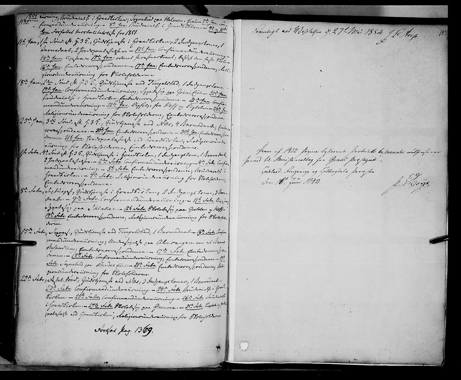 SAH, Gran prestekontor, Ministerialbok nr. 11, 1842-1856, s. 1432-1433
