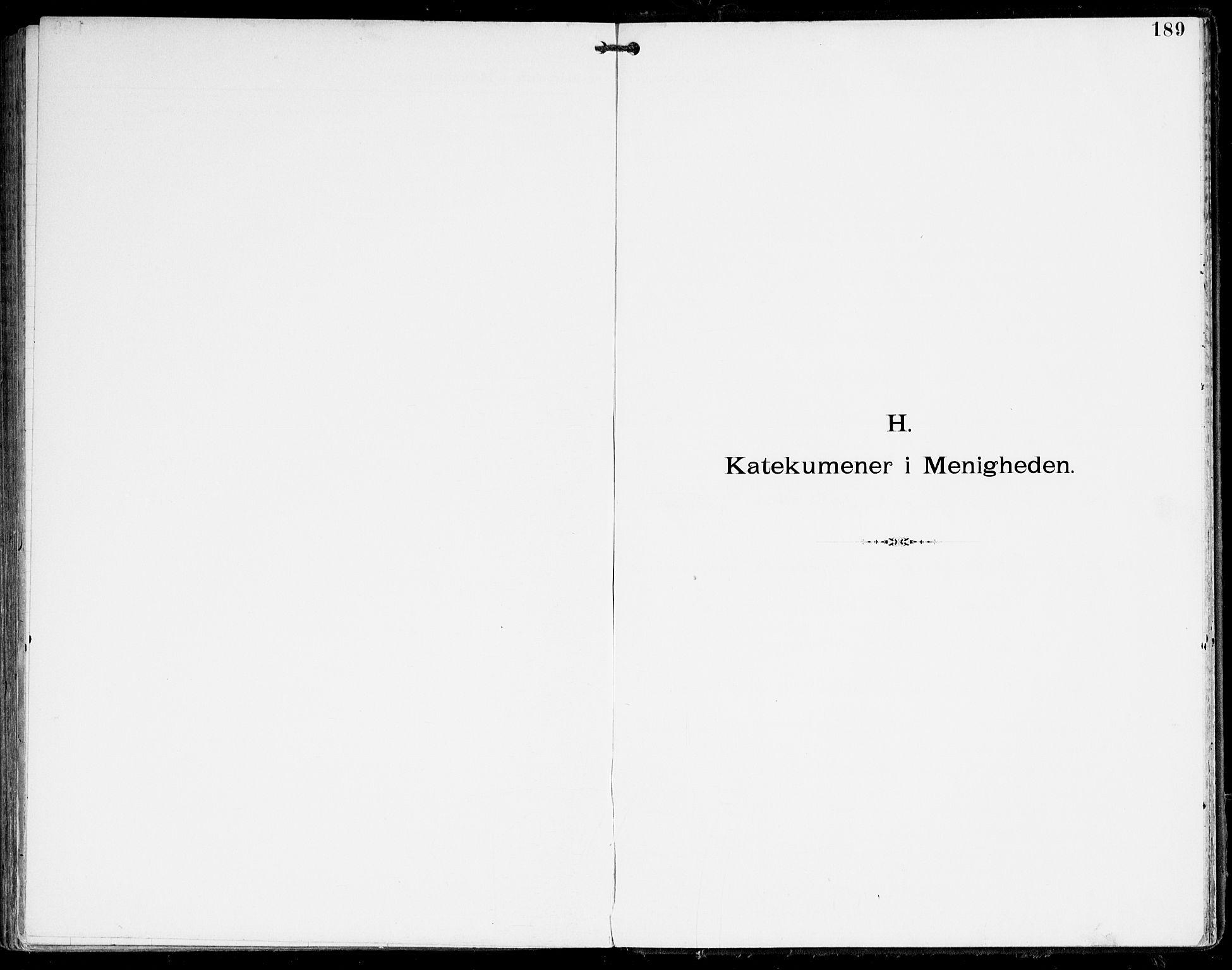 SAK, Den evangelisk-lutherske frikirke, Kristiansand, F/Fa/L0003: Dissenterprotokoll nr. F 11, 1892-1925, s. 189