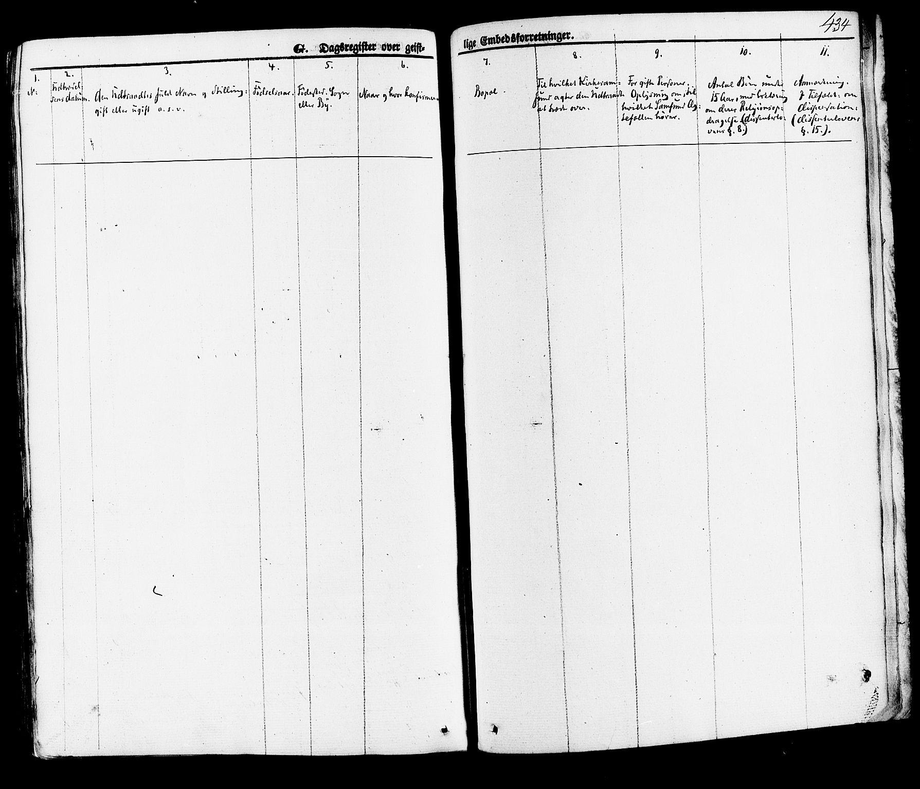 SAKO, Hjartdal kirkebøker, F/Fa/L0009: Ministerialbok nr. I 9, 1860-1879, s. 434