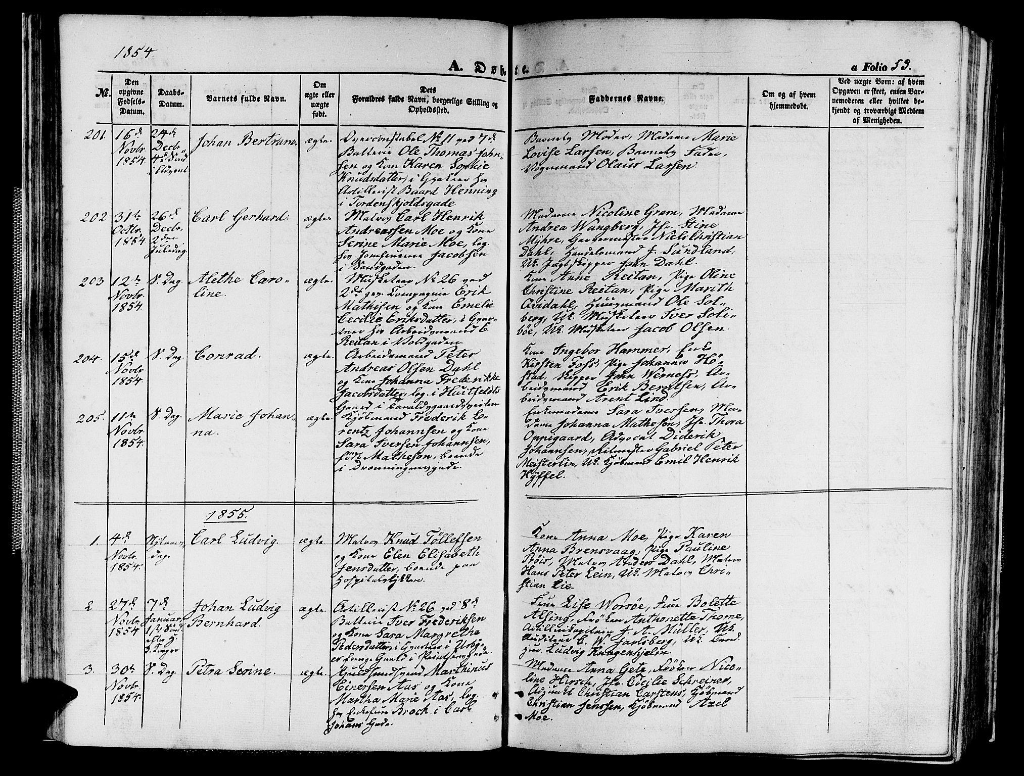 SAT, Ministerialprotokoller, klokkerbøker og fødselsregistre - Sør-Trøndelag, 602/L0138: Klokkerbok nr. 602C06, 1853-1858, s. 53