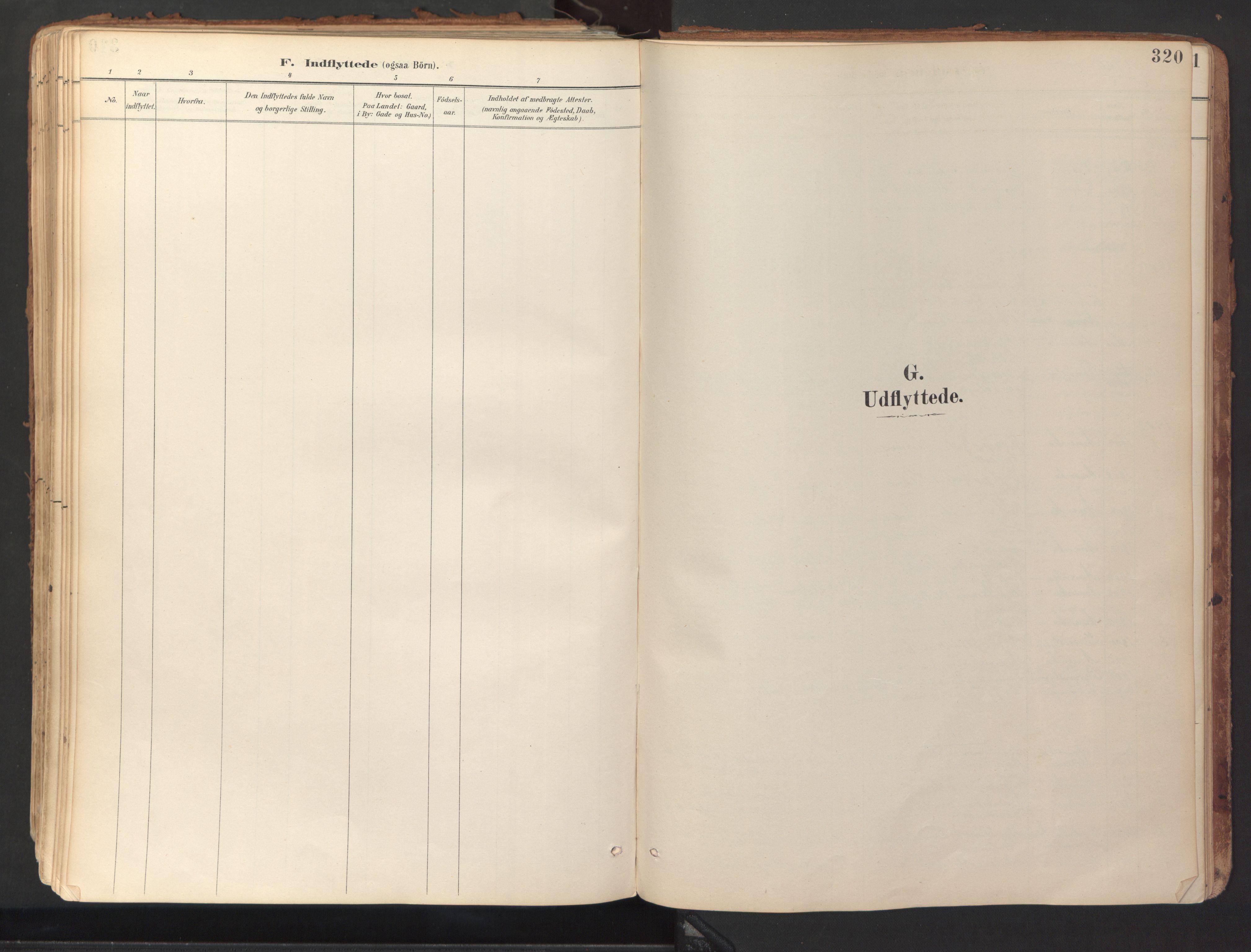 SAT, Ministerialprotokoller, klokkerbøker og fødselsregistre - Sør-Trøndelag, 689/L1041: Ministerialbok nr. 689A06, 1891-1923, s. 320