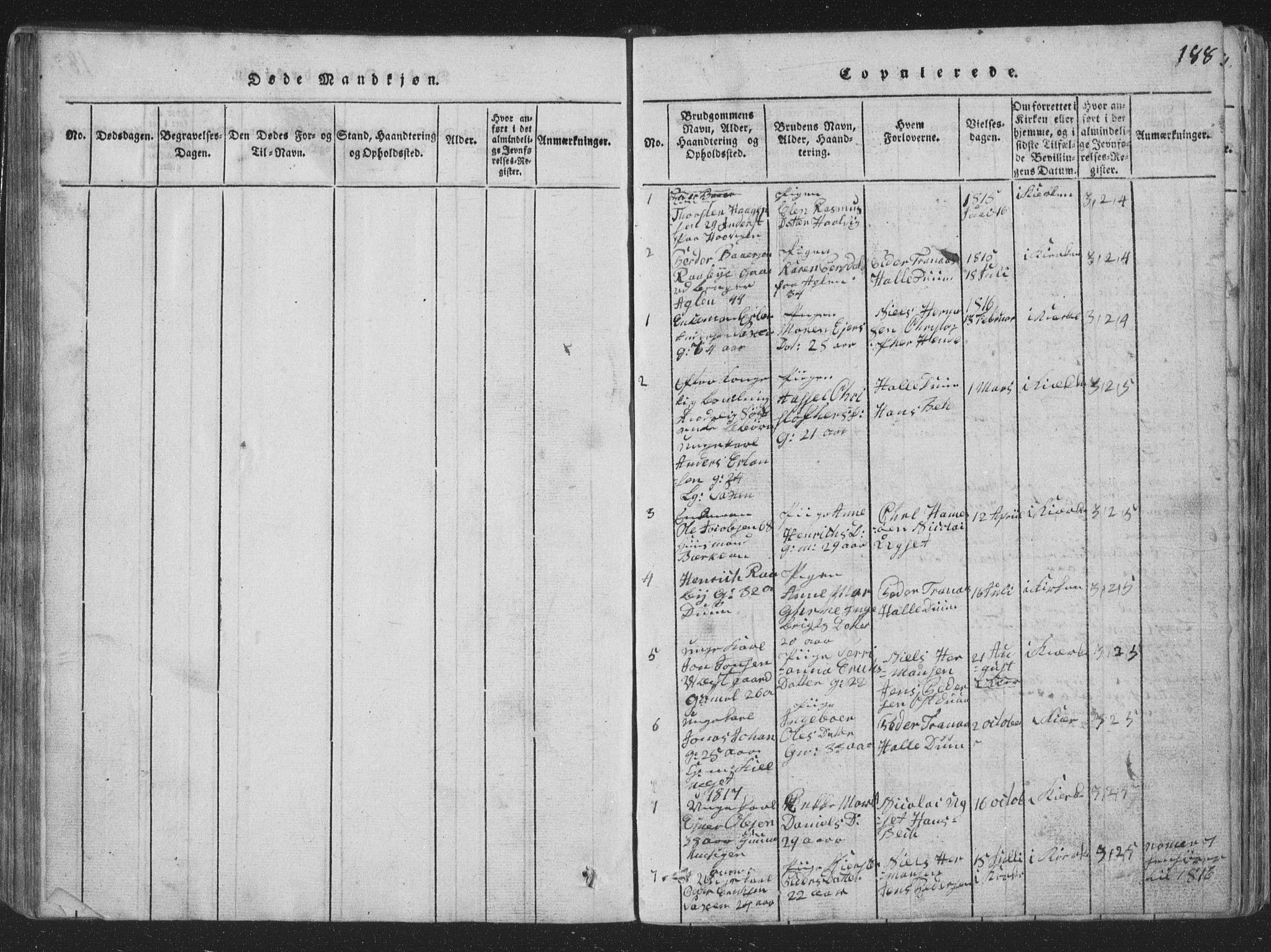 SAT, Ministerialprotokoller, klokkerbøker og fødselsregistre - Nord-Trøndelag, 773/L0613: Ministerialbok nr. 773A04, 1815-1845, s. 188