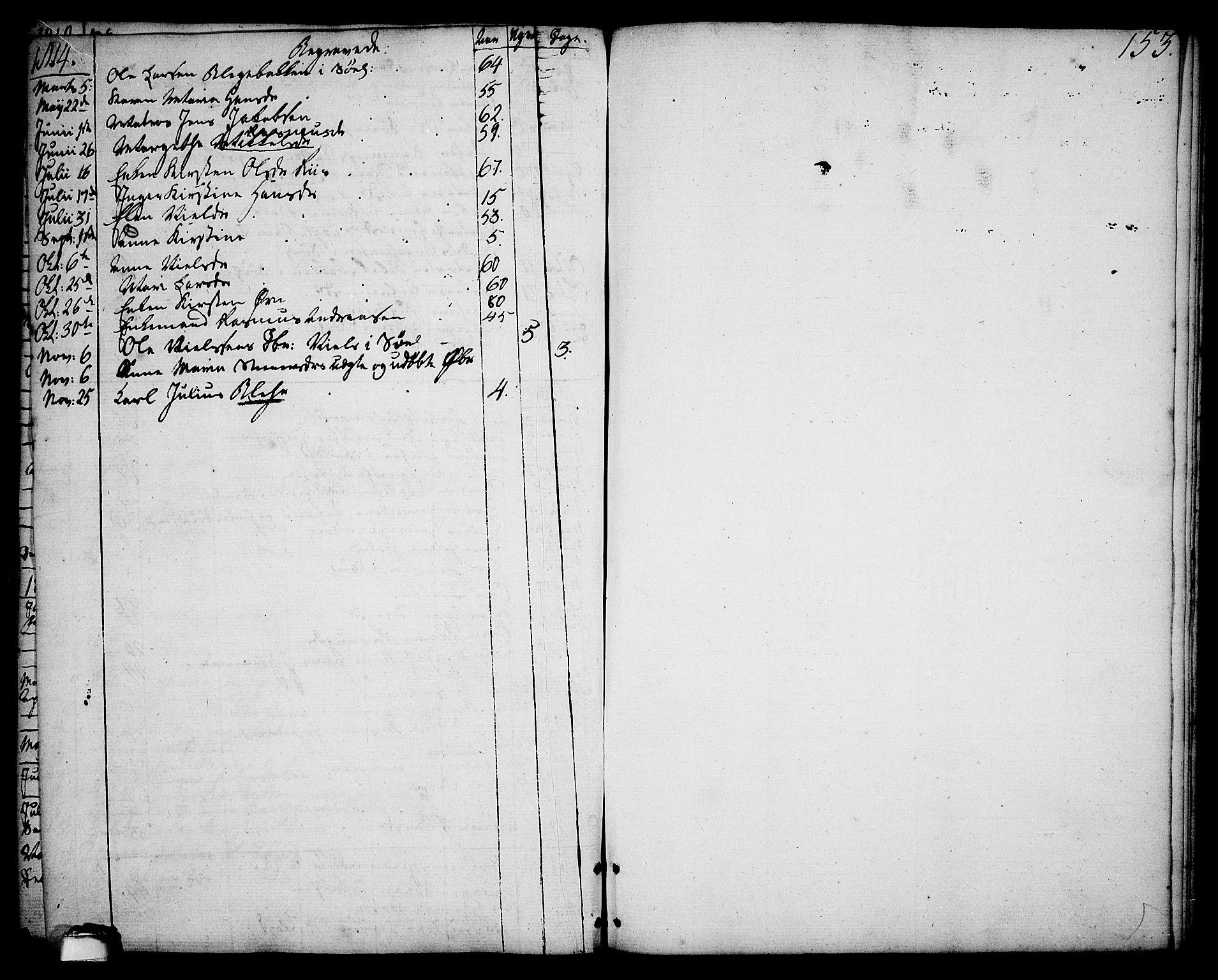 SAKO, Brevik kirkebøker, F/Fa/L0003: Ministerialbok nr. 3, 1764-1814, s. 153