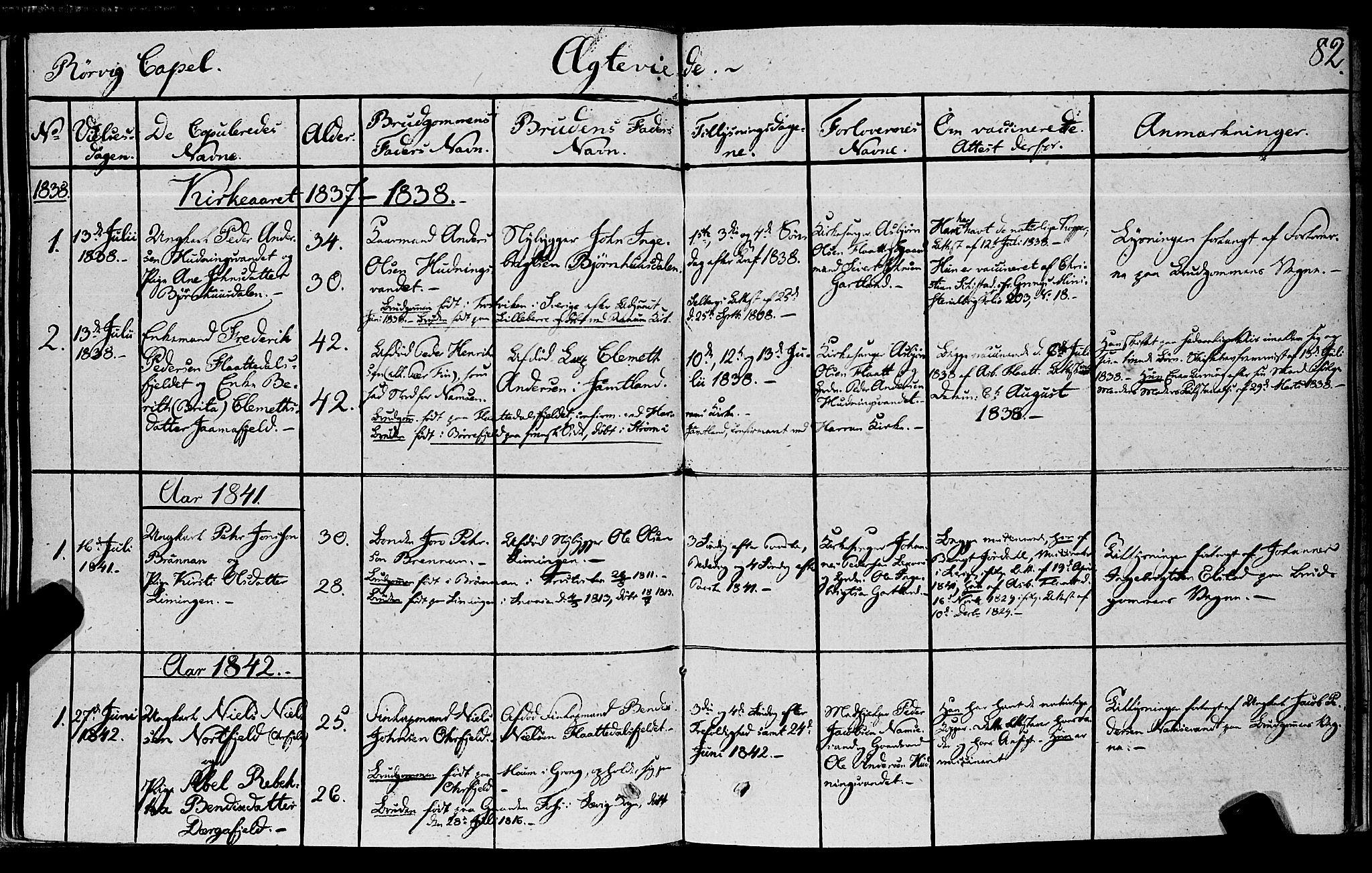 SAT, Ministerialprotokoller, klokkerbøker og fødselsregistre - Nord-Trøndelag, 762/L0538: Ministerialbok nr. 762A02 /1, 1833-1879, s. 82