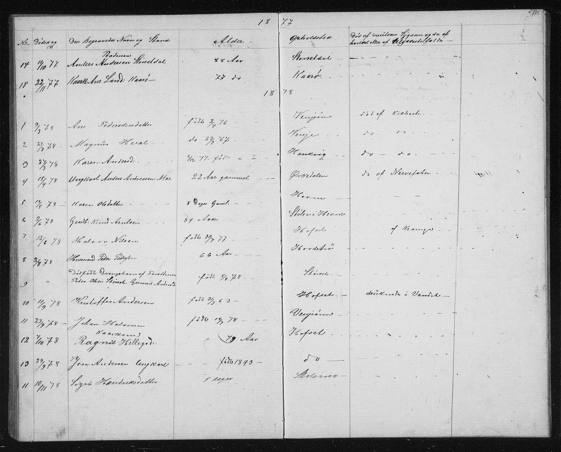 SAT, Ministerialprotokoller, klokkerbøker og fødselsregistre - Sør-Trøndelag, 631/L0513: Klokkerbok nr. 631C01, 1869-1879, s. 118