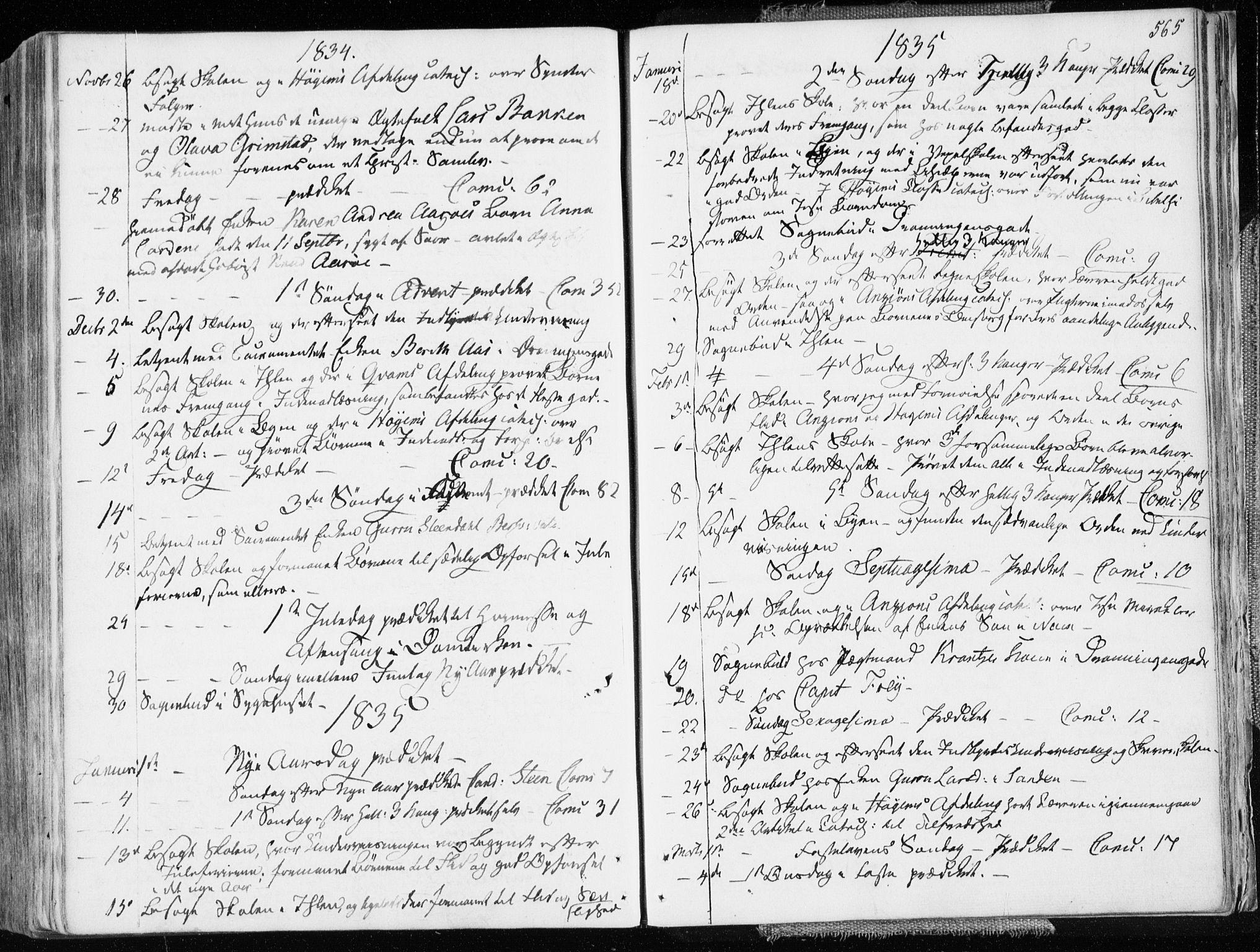 SAT, Ministerialprotokoller, klokkerbøker og fødselsregistre - Sør-Trøndelag, 601/L0047: Ministerialbok nr. 601A15, 1831-1839, s. 565