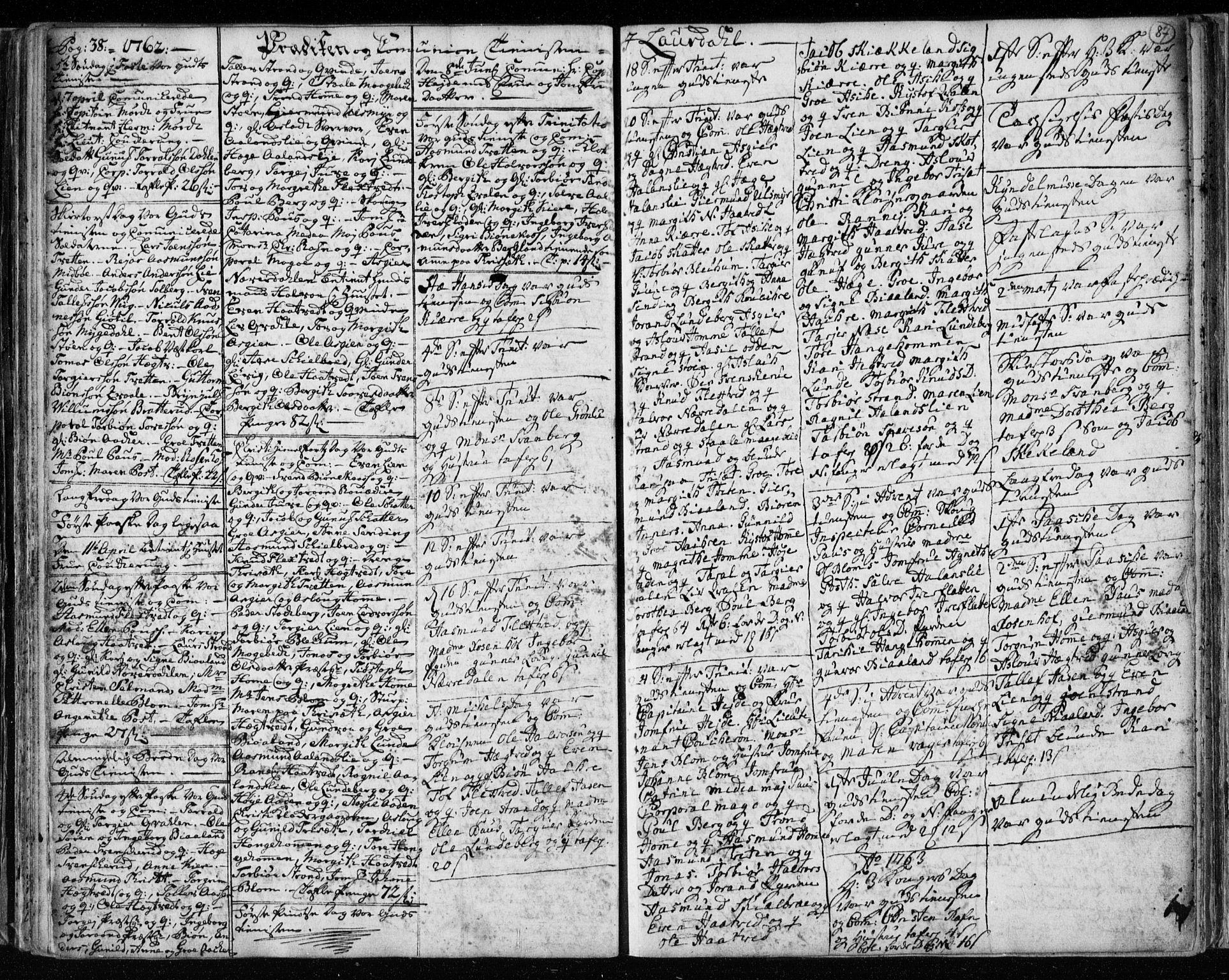 SAKO, Lårdal kirkebøker, F/Fa/L0003: Ministerialbok nr. I 3, 1754-1790, s. 87
