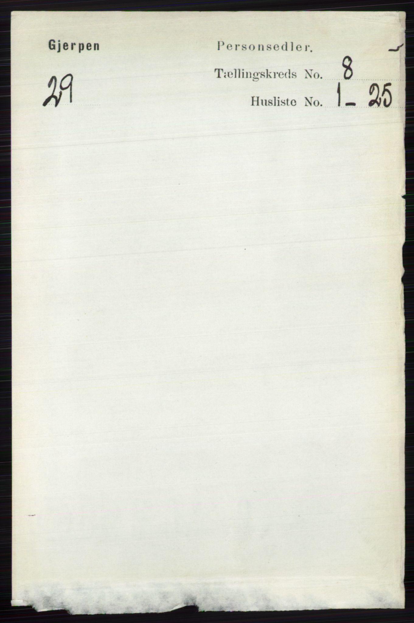 RA, Folketelling 1891 for 0812 Gjerpen herred, 1891, s. 4010