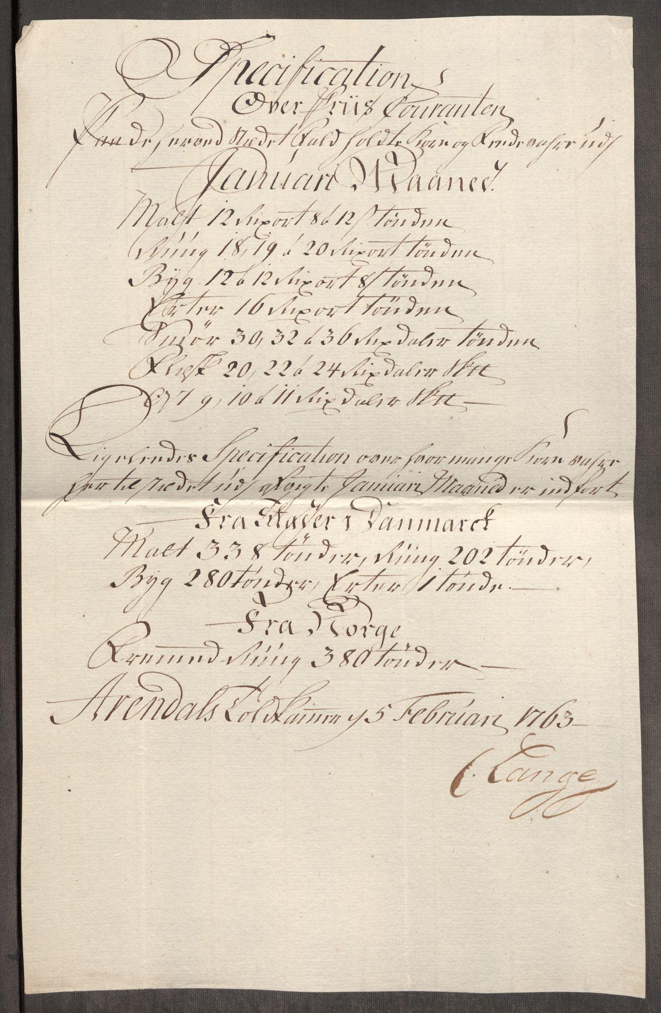 RA, Rentekammeret inntil 1814, Realistisk ordnet avdeling, Oe/L0007: [Ø1]: Priskuranter, 1761-1763, s. 726