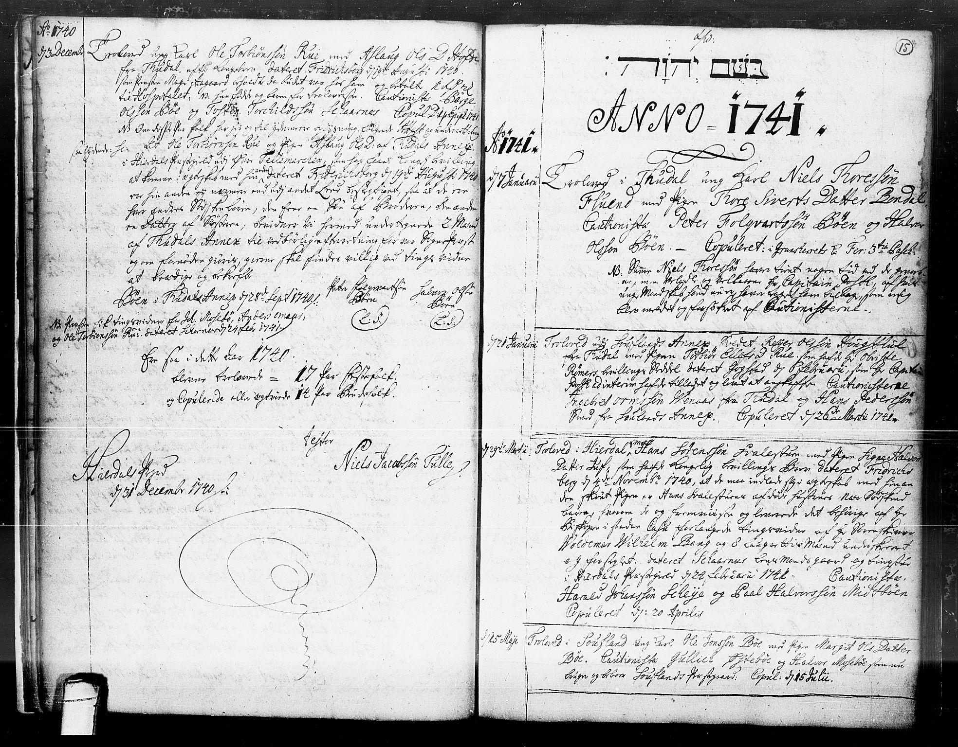 SAKO, Hjartdal kirkebøker, F/Fa/L0004: Ministerialbok nr. I 4, 1727-1795, s. 15