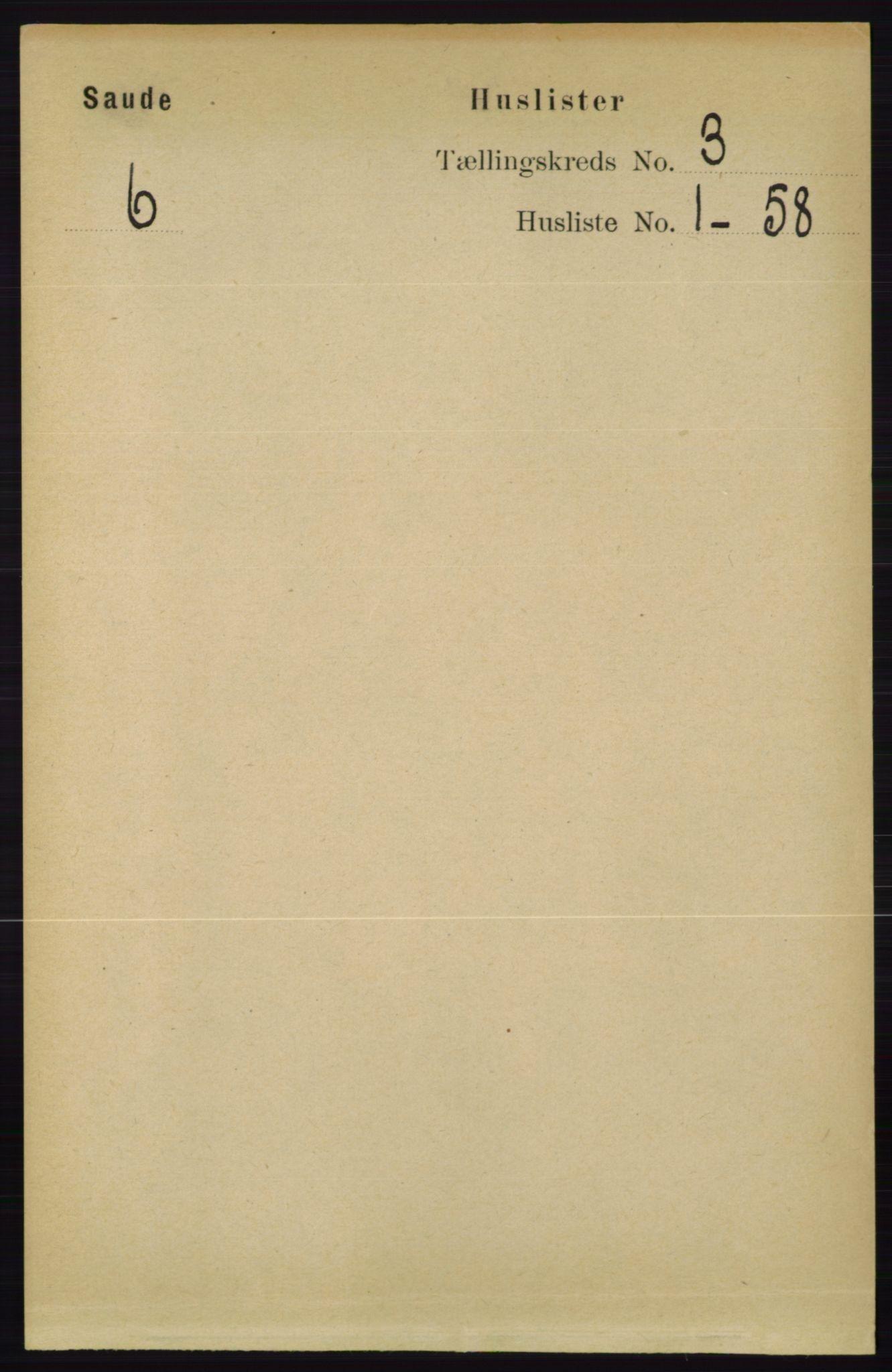 RA, Folketelling 1891 for 0822 Sauherad herred, 1891, s. 667