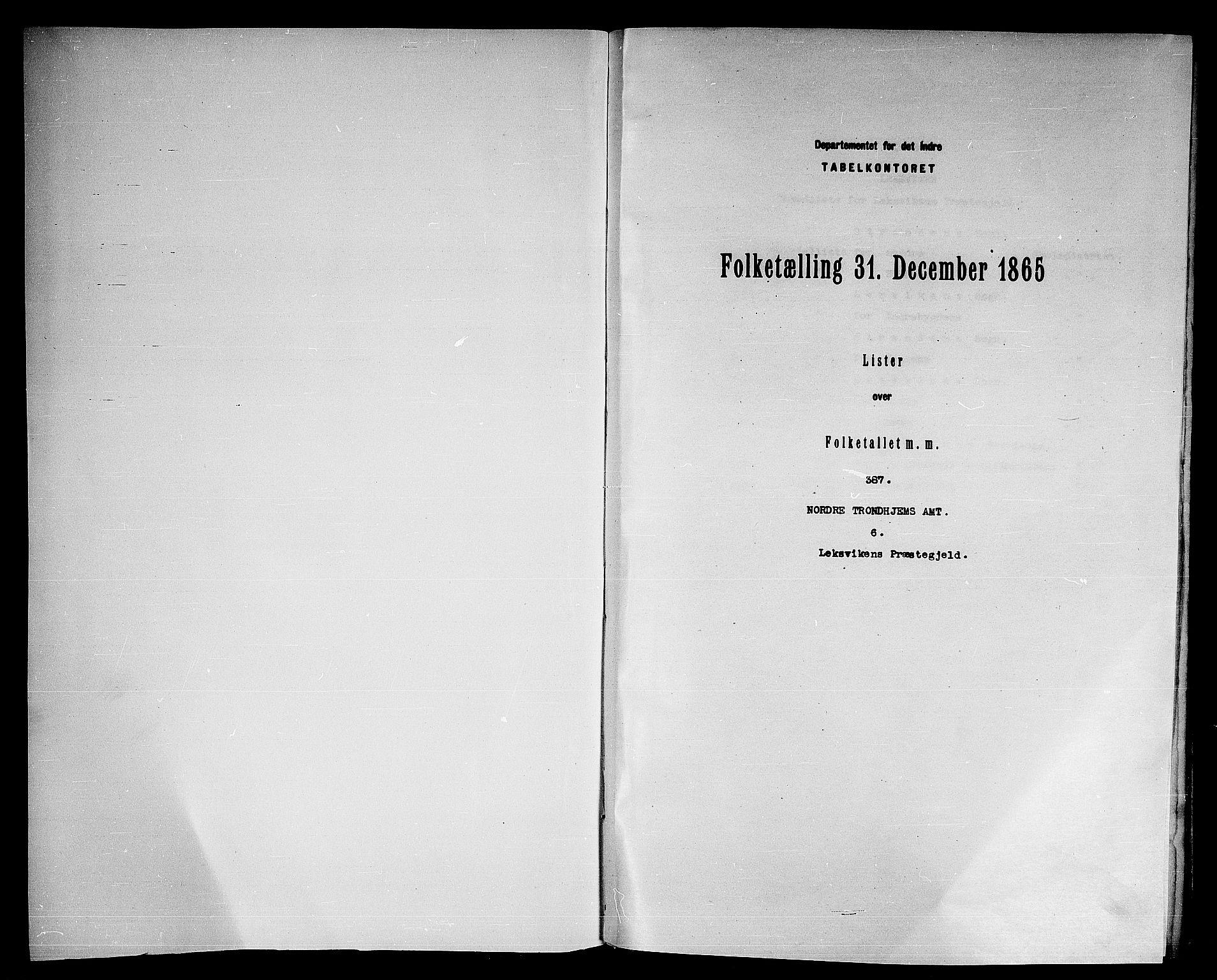 RA, Folketelling 1865 for 1718P Leksvik prestegjeld, 1865, s. 3