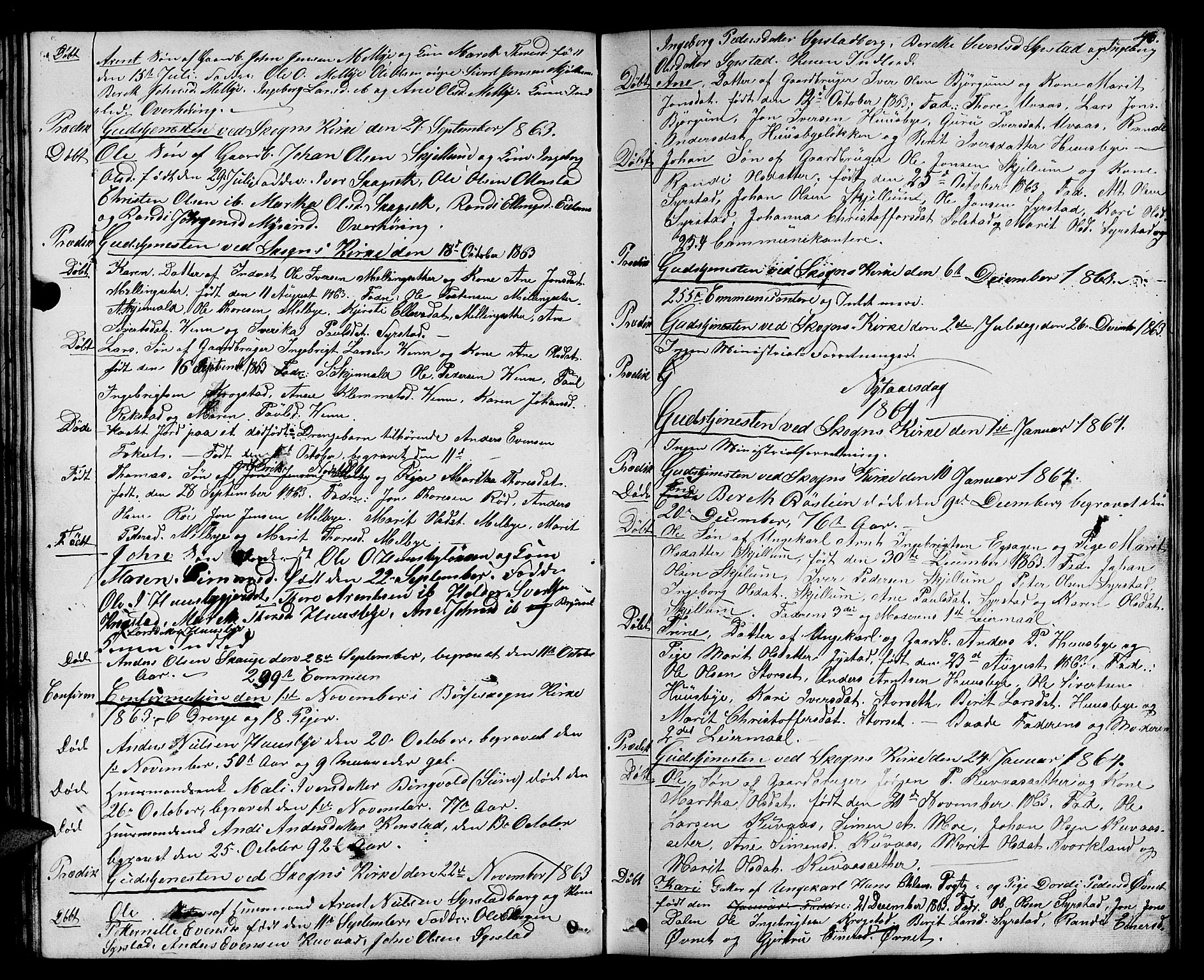 SAT, Ministerialprotokoller, klokkerbøker og fødselsregistre - Sør-Trøndelag, 667/L0797: Klokkerbok nr. 667C02, 1849-1867, s. 46