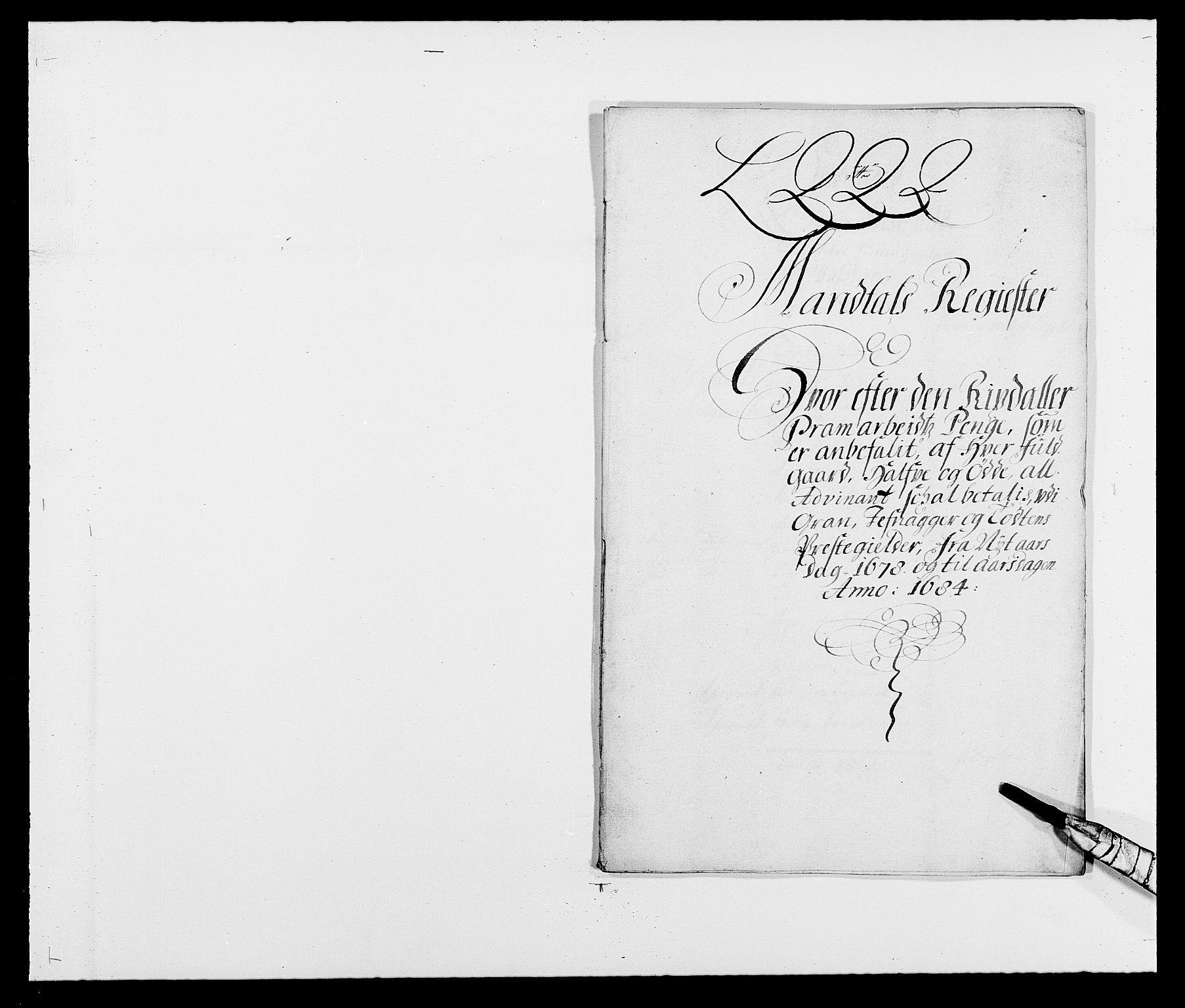 RA, Rentekammeret inntil 1814, Reviderte regnskaper, Fogderegnskap, R18/L1283: Fogderegnskap Hadeland, Toten og Valdres, 1684, s. 108
