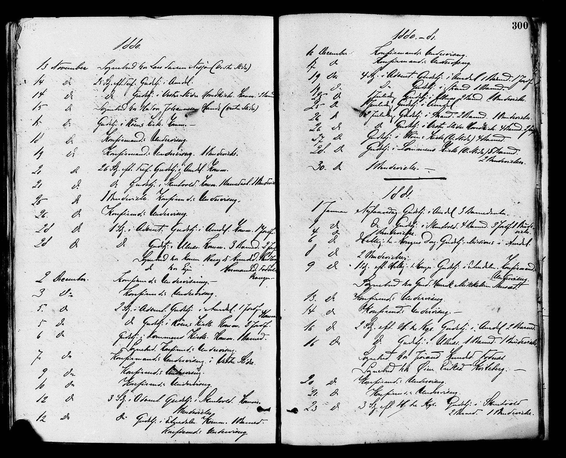 SAH, Nord-Aurdal prestekontor, Ministerialbok nr. 9, 1876-1882, s. 300
