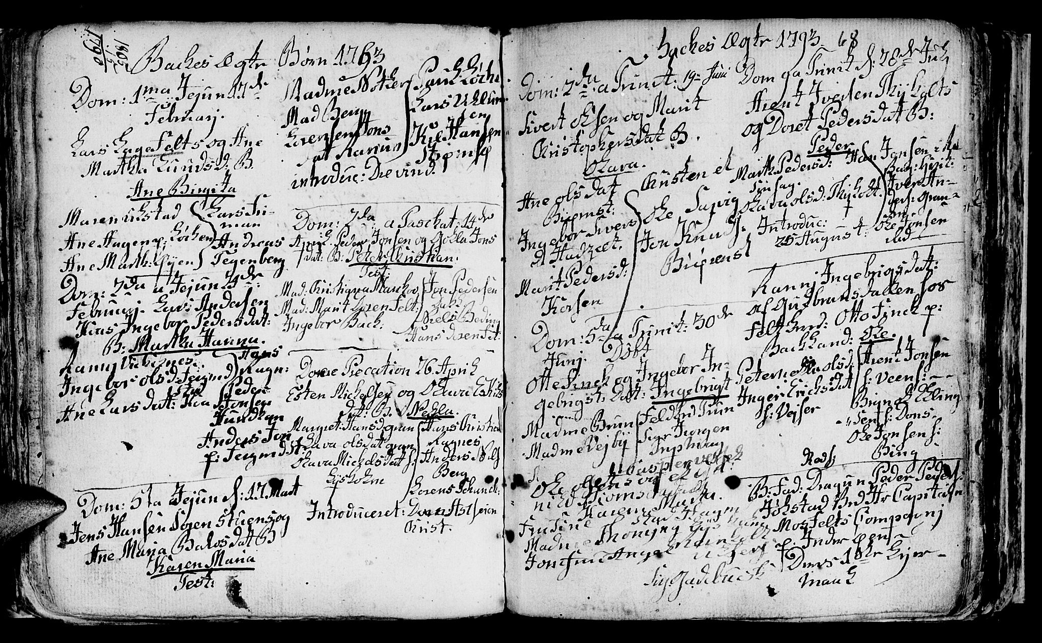 SAT, Ministerialprotokoller, klokkerbøker og fødselsregistre - Sør-Trøndelag, 604/L0218: Klokkerbok nr. 604C01, 1754-1819, s. 68