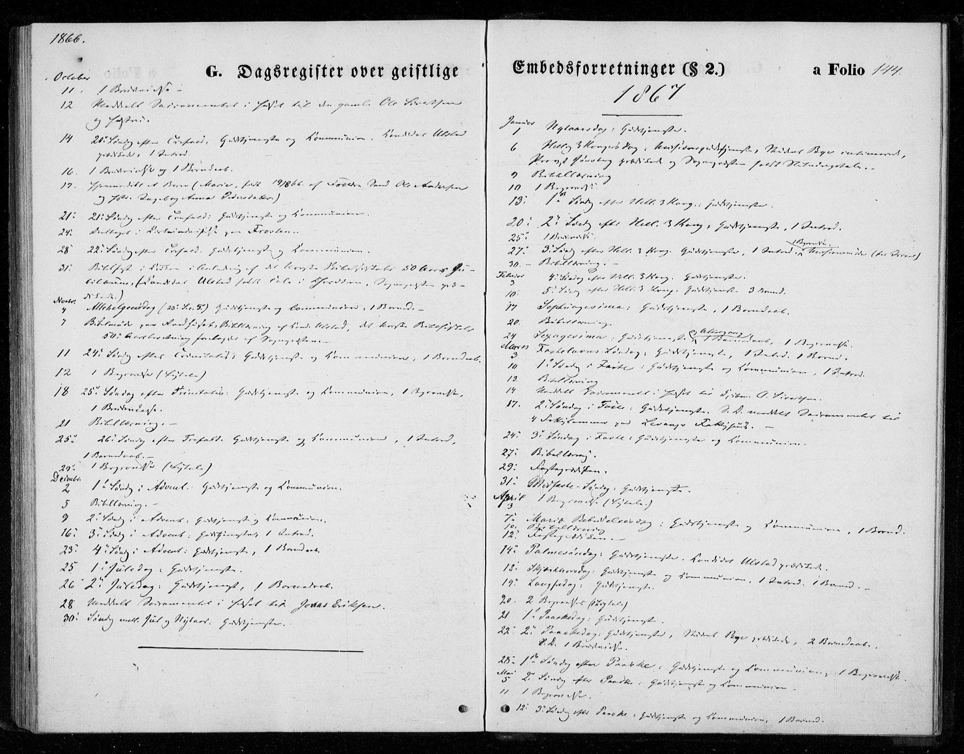 SAT, Ministerialprotokoller, klokkerbøker og fødselsregistre - Nord-Trøndelag, 720/L0186: Ministerialbok nr. 720A03, 1864-1874, s. 144