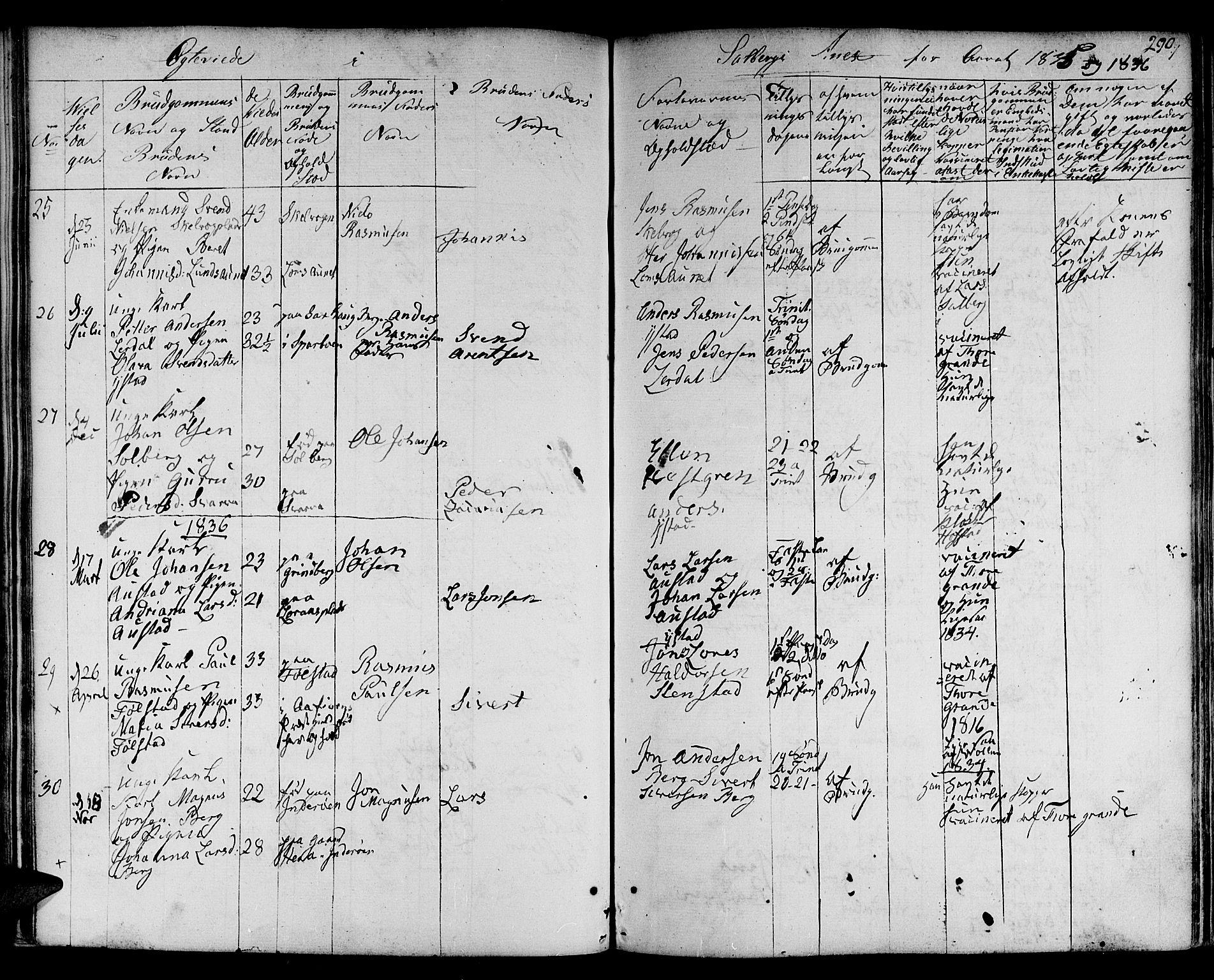 SAT, Ministerialprotokoller, klokkerbøker og fødselsregistre - Nord-Trøndelag, 730/L0277: Ministerialbok nr. 730A06 /2, 1831-1839, s. 290