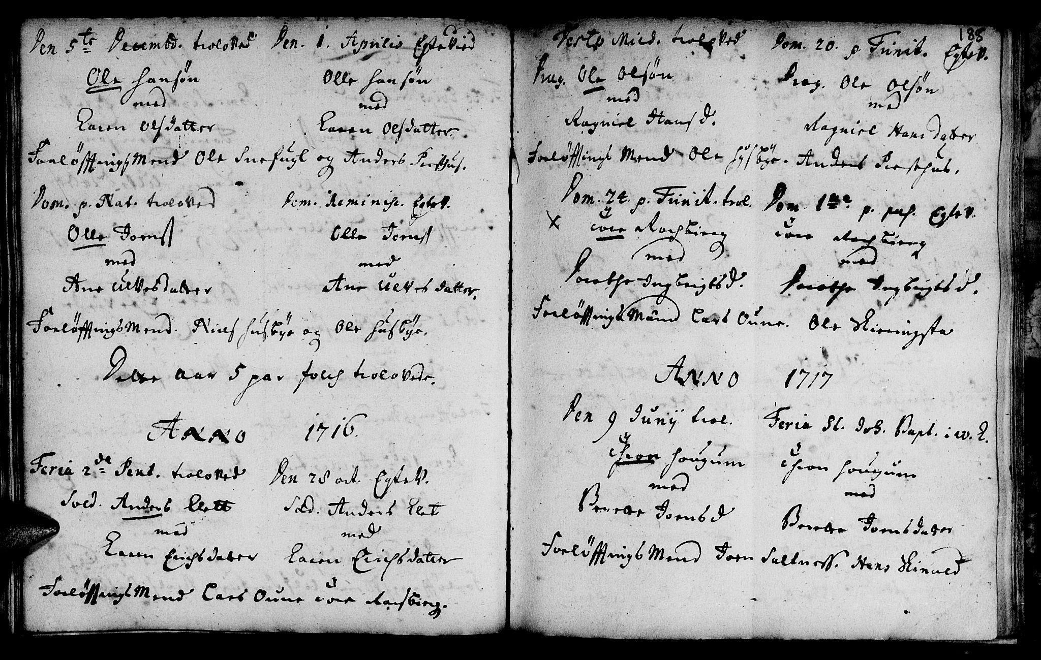 SAT, Ministerialprotokoller, klokkerbøker og fødselsregistre - Sør-Trøndelag, 666/L0783: Ministerialbok nr. 666A01, 1702-1753, s. 185