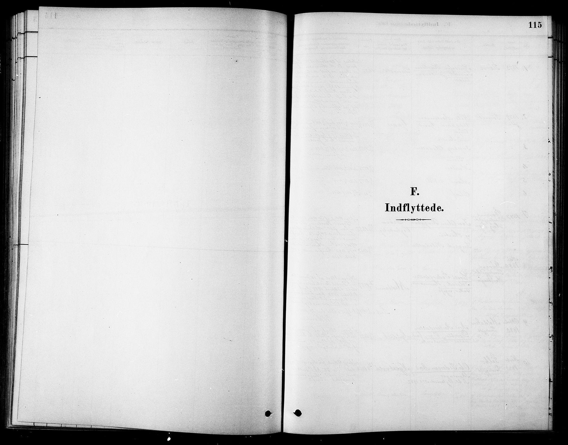 SAT, Ministerialprotokoller, klokkerbøker og fødselsregistre - Sør-Trøndelag, 685/L0972: Ministerialbok nr. 685A09, 1879-1890, s. 115