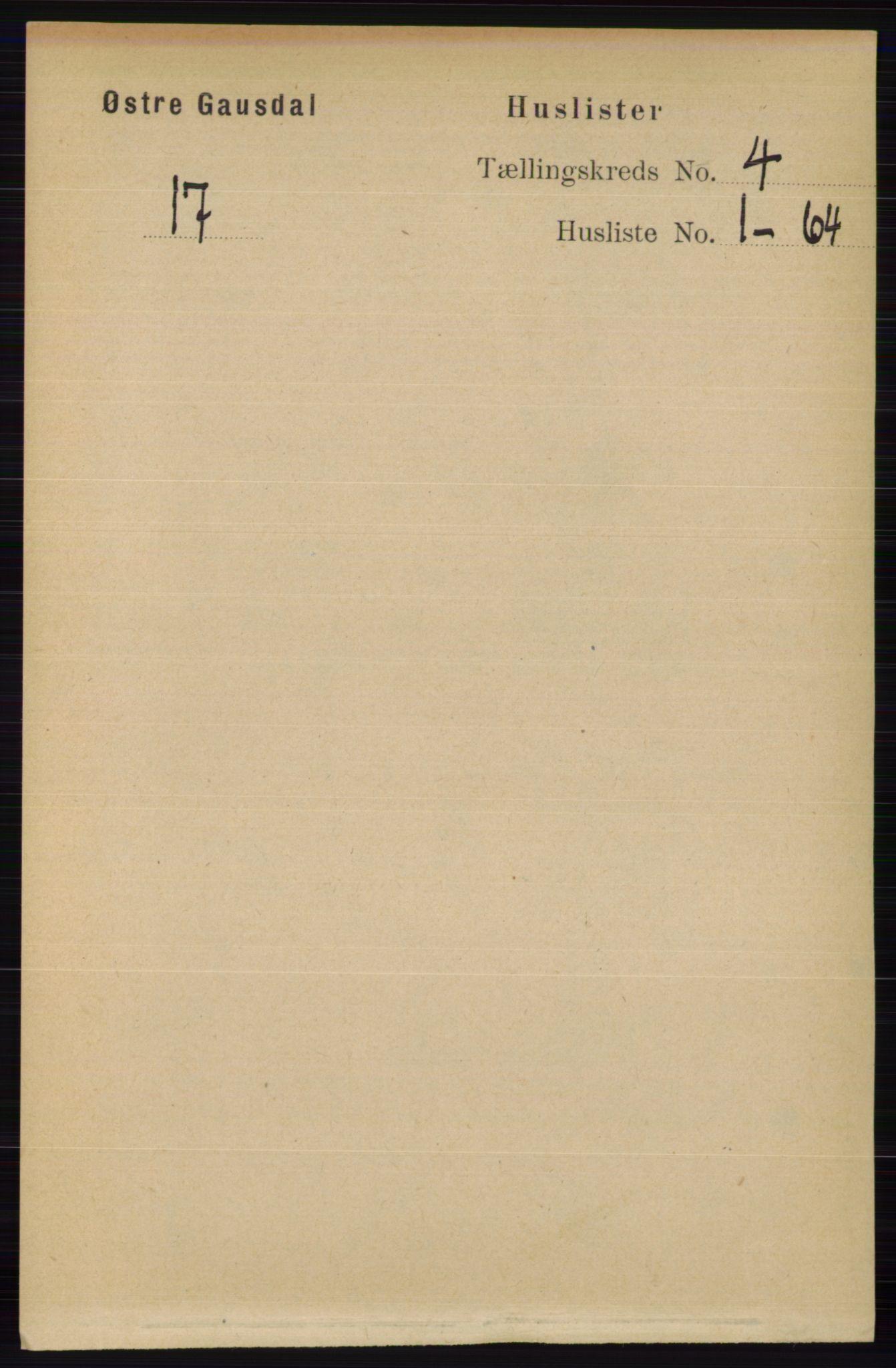 RA, Folketelling 1891 for 0522 Østre Gausdal herred, 1891, s. 2379