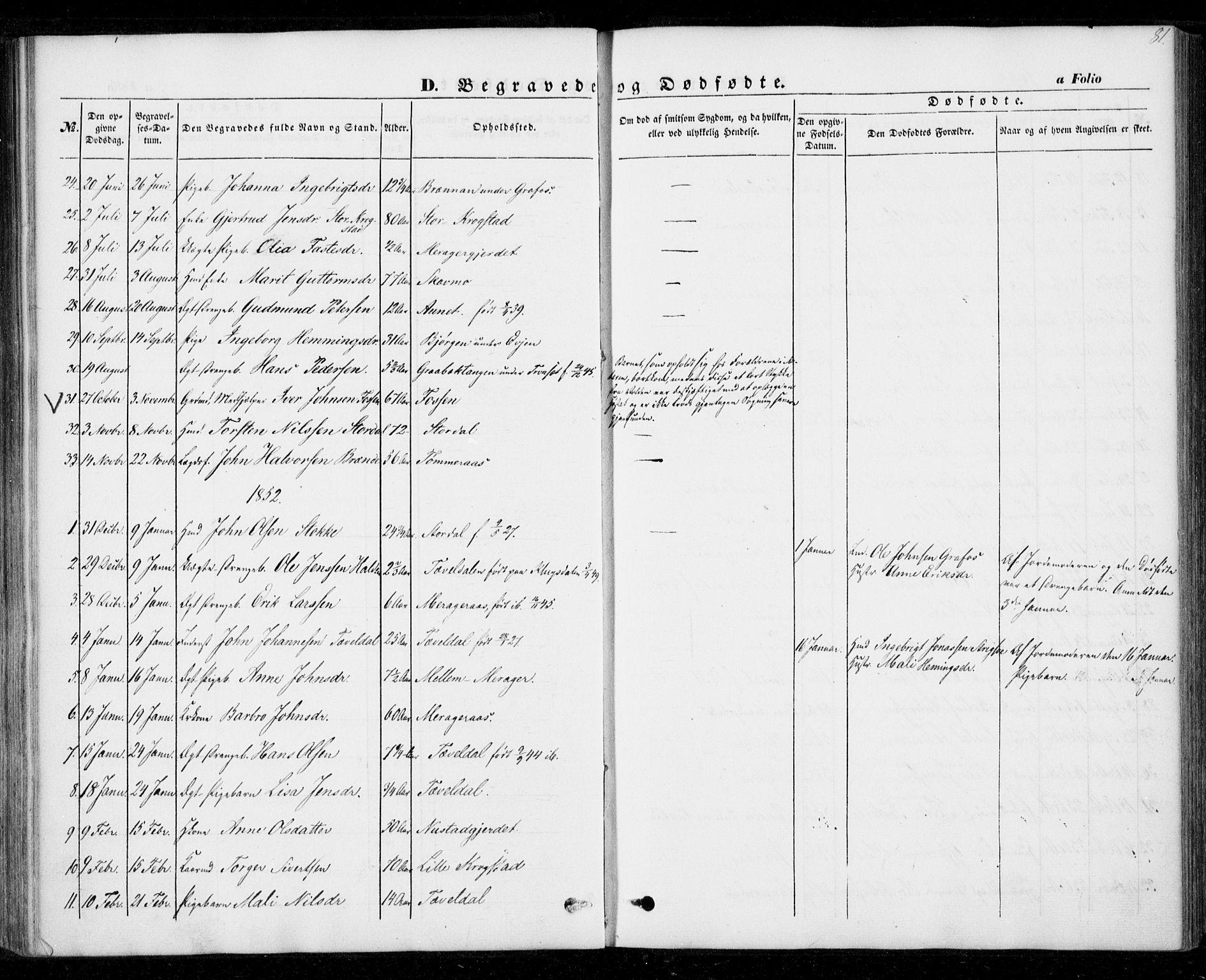 SAT, Ministerialprotokoller, klokkerbøker og fødselsregistre - Nord-Trøndelag, 706/L0040: Ministerialbok nr. 706A01, 1850-1861, s. 81