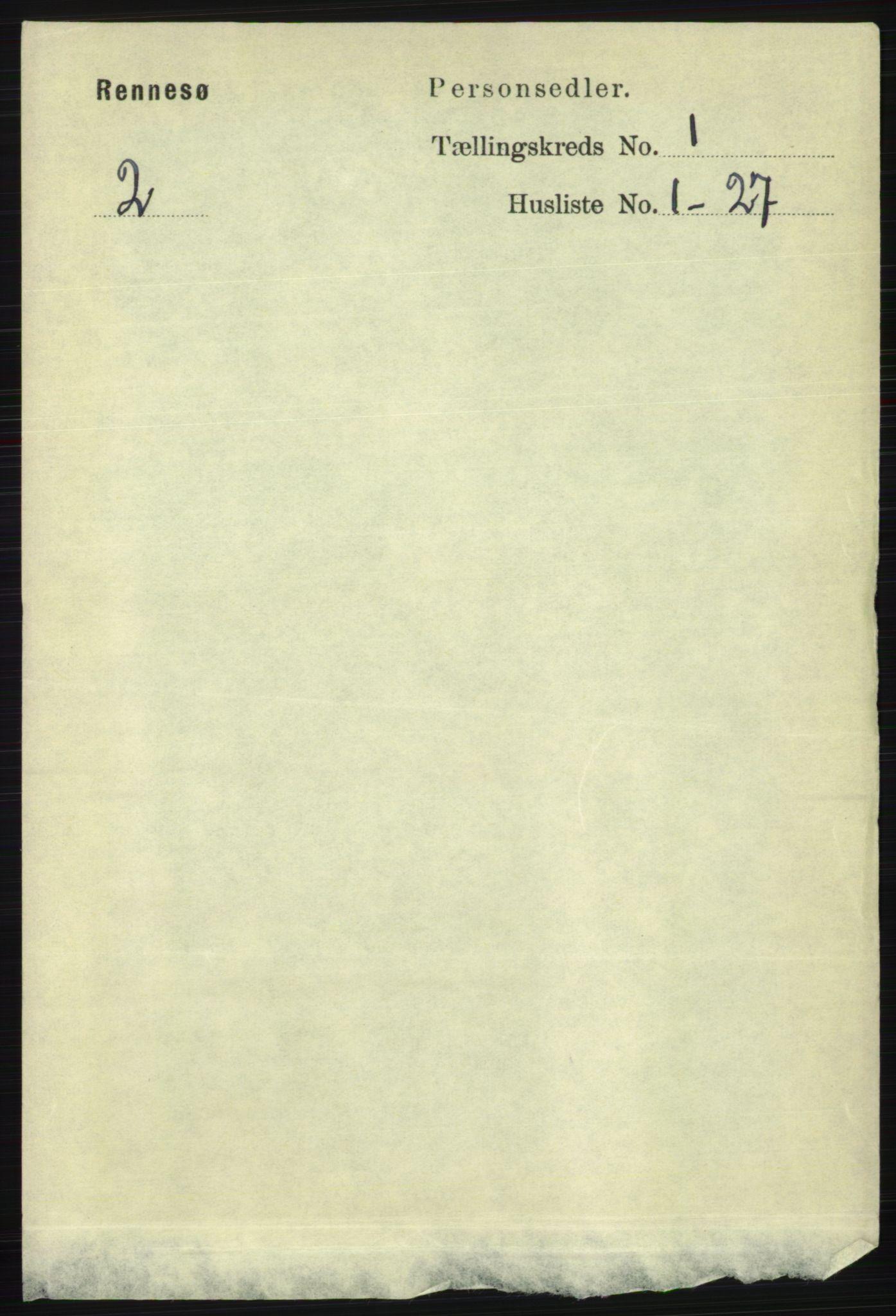 RA, Folketelling 1891 for 1142 Rennesøy herred, 1891, s. 63