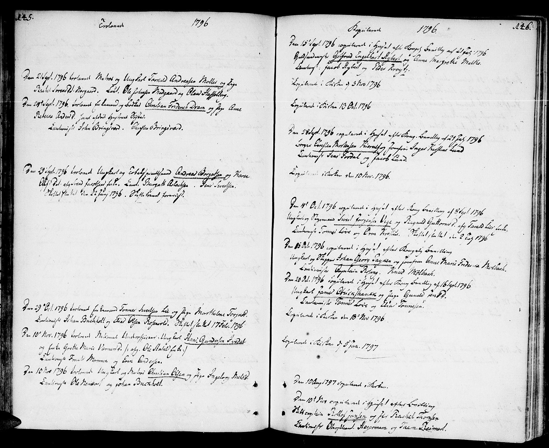 SAK, Kristiansand domprosti, F/Fa/L0005: Ministerialbok nr. A 5, 1776-1818, s. 145-146